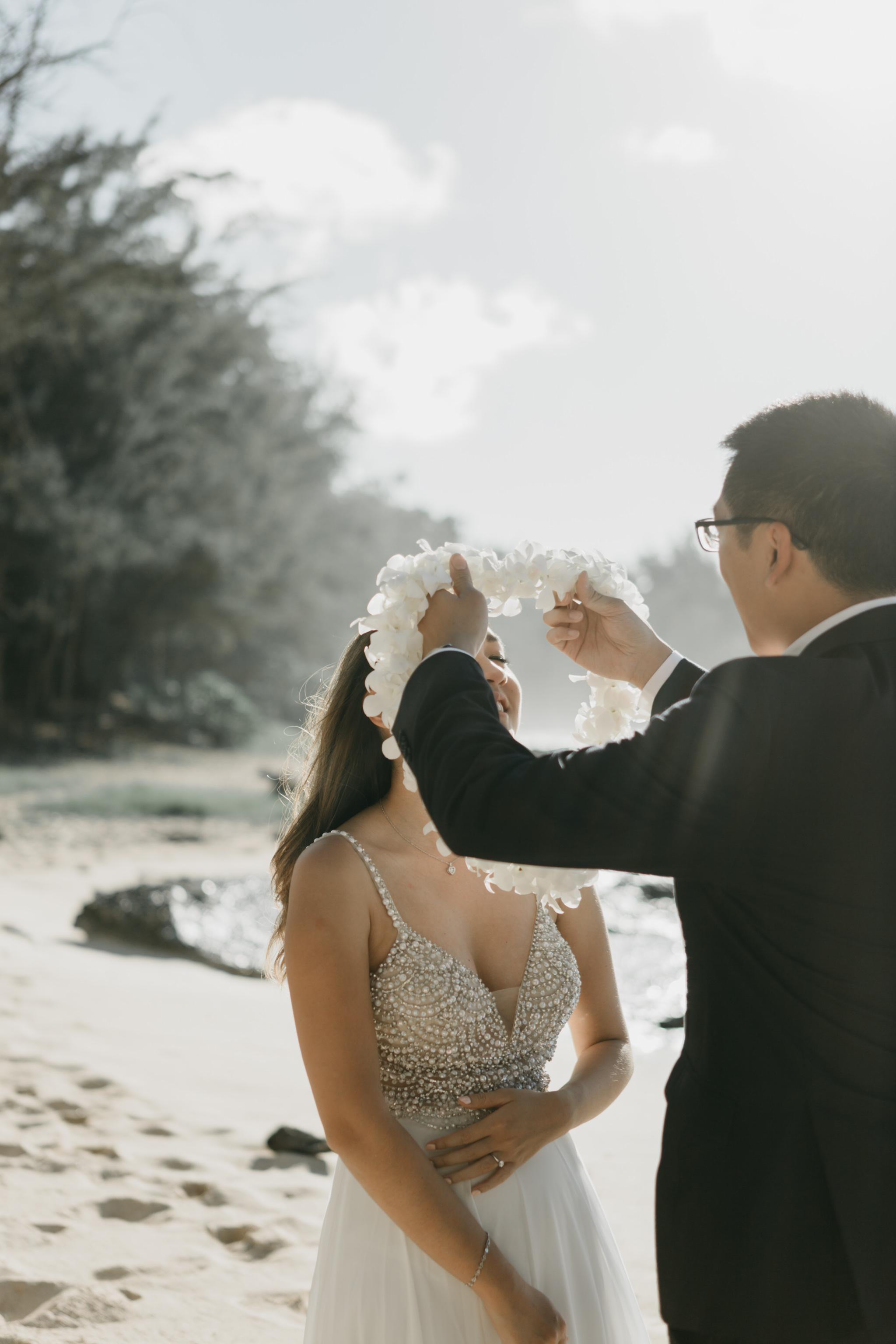 Stables Beach at Turtle Bay Resort Wedding by Hawaii Fine Art Wedding Photographer Desiree Leilani