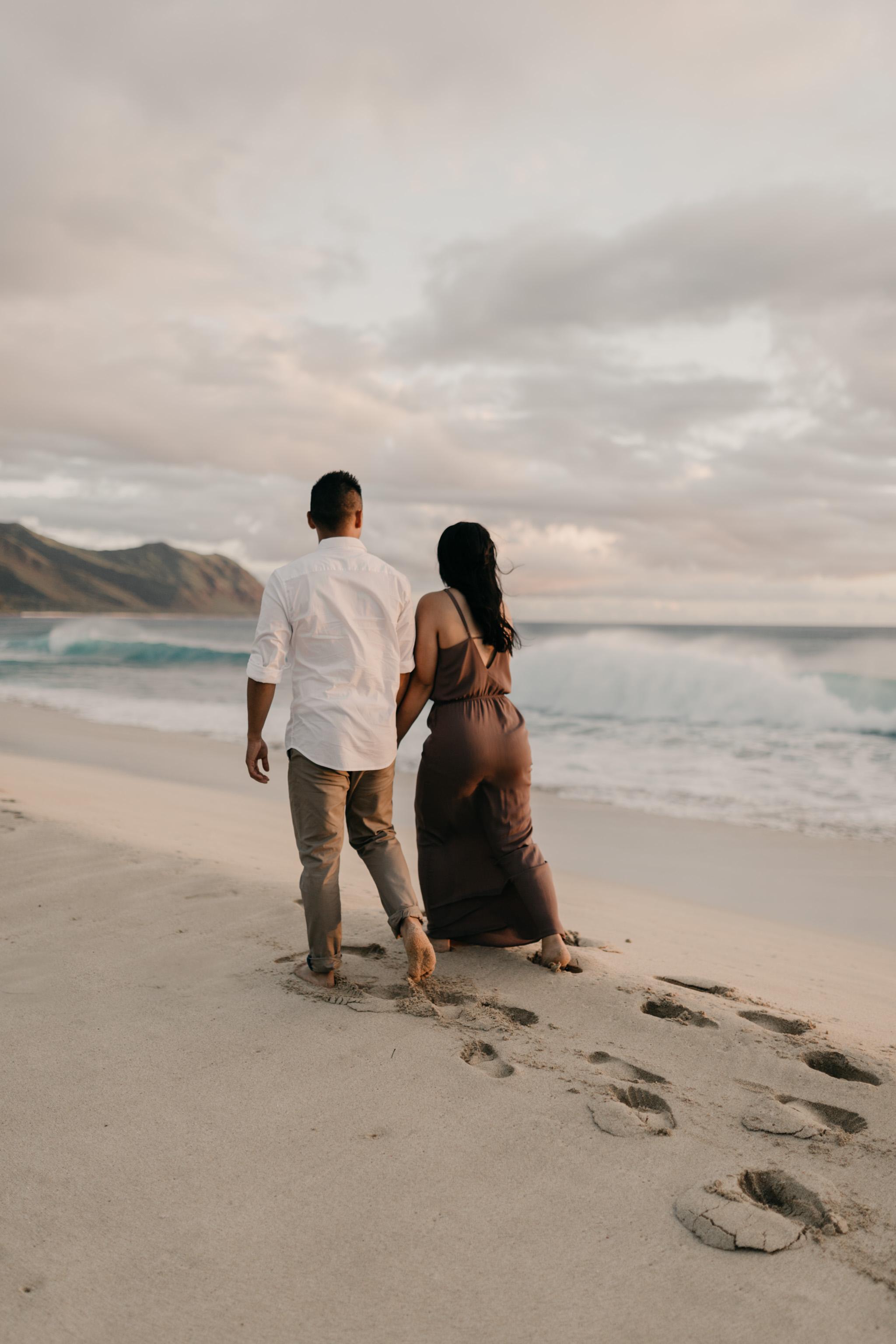 Yokohama Sunset Engagement Photos by Oahu Wedding Photographer Desiree Leilani