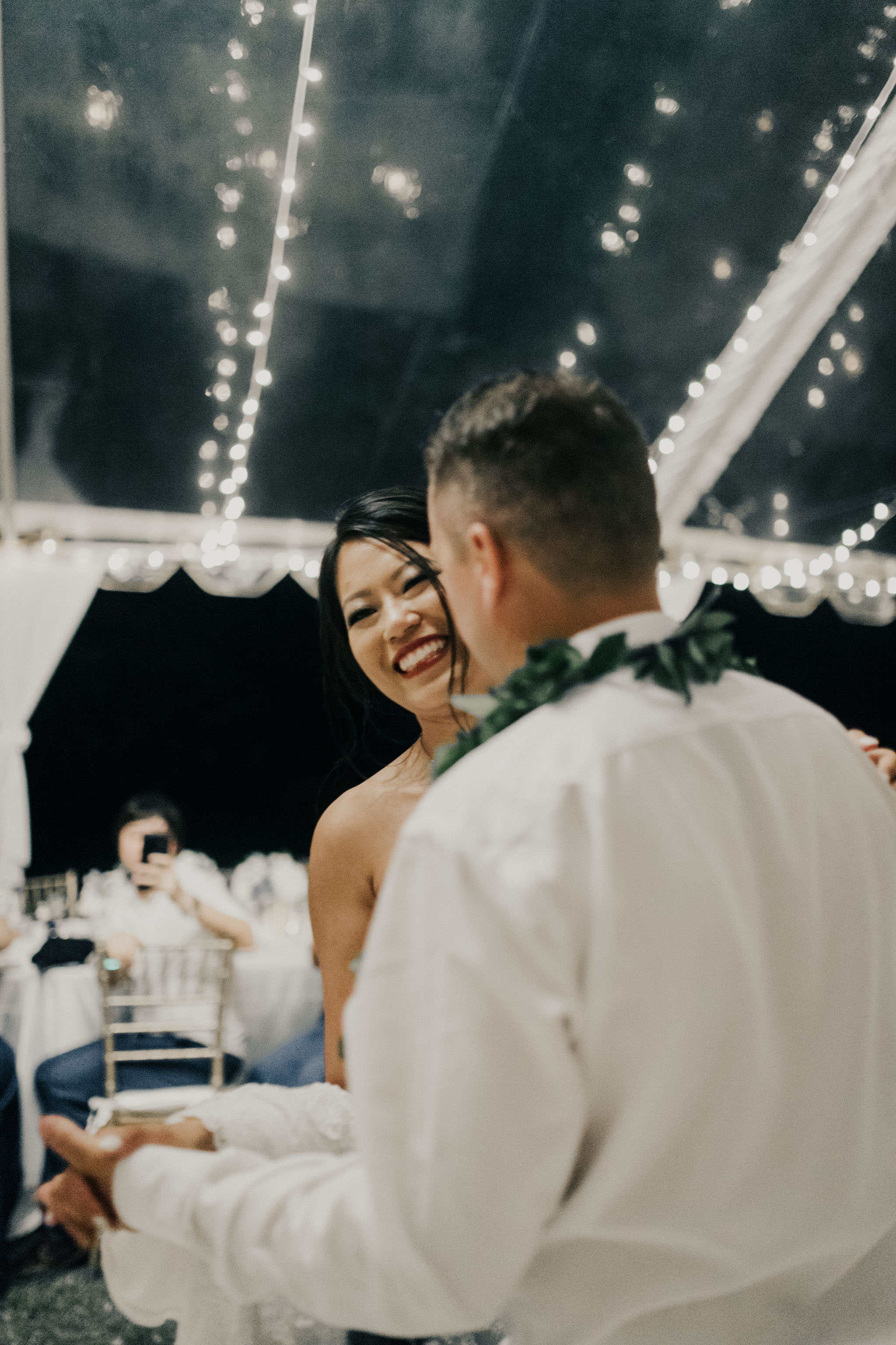 First dance at a Kualoa Ranch wedding. Photo by Oahu wedding photographer Desiree Leilani