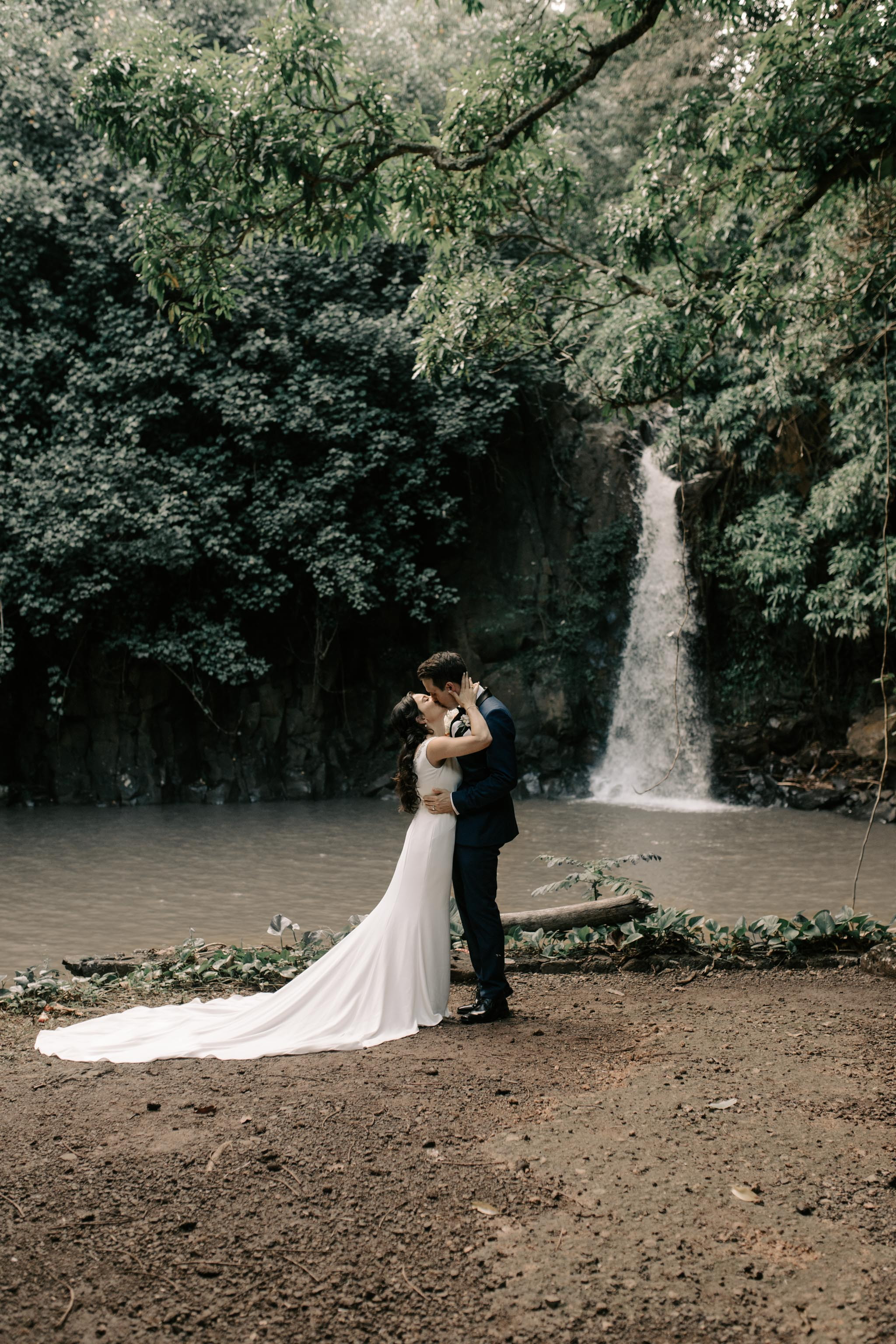 Beautiful Kauai Elopement: McBryde Garden Waihulili Waterfall Wedding By Kauai Wedding Photographer Desiree Leilani
