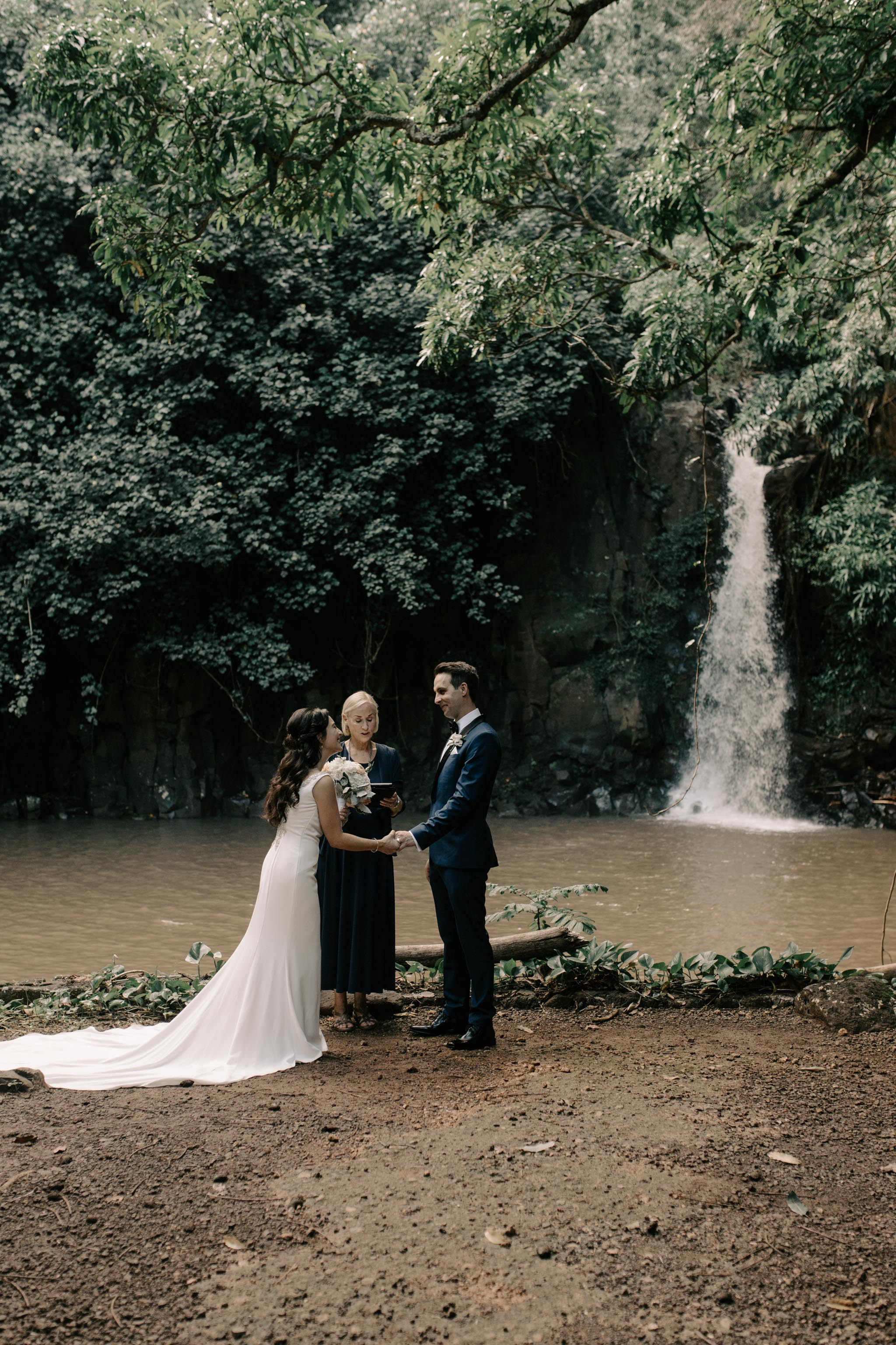 McBryde Garden Waihulili Waterfall Wedding By Kauai Wedding Photographer Desiree Leilani