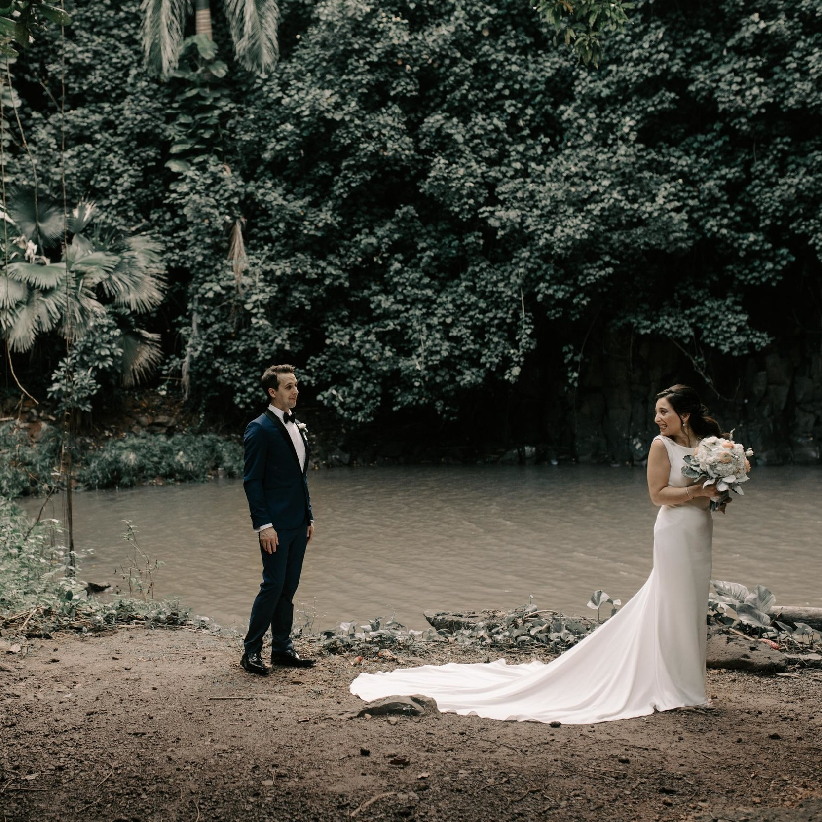 Waihulili Falls Kauai Elopement by Hawaii Wedding Photographer Desiree Leilani