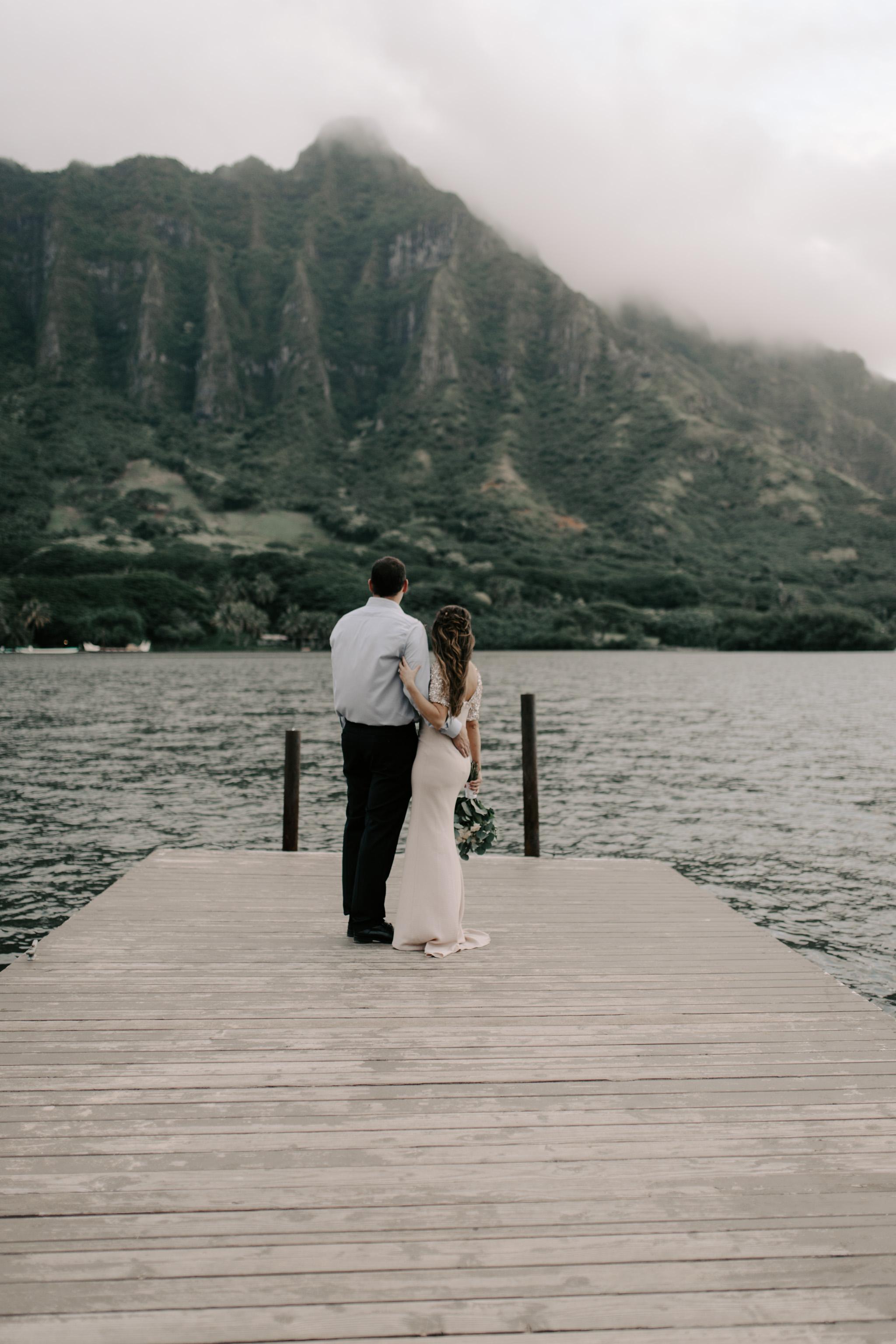 Kualoa Ranch Secret Island Elopement by Hawaii Wedding Photographer Desiree Leilani