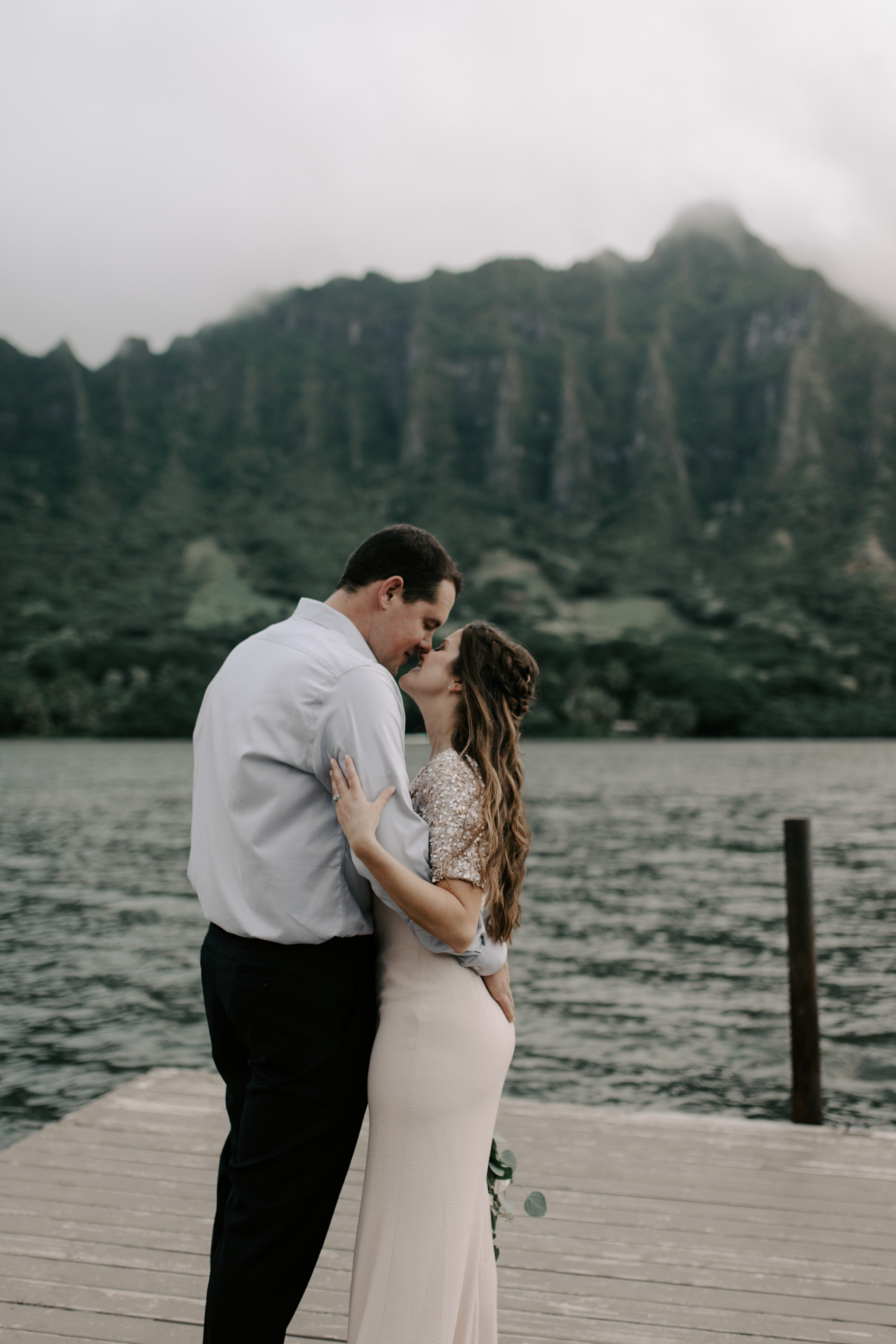 Kualoa Ranch Secret Island Elopement by Hawaii Wedding Photographer Desiree Leilani