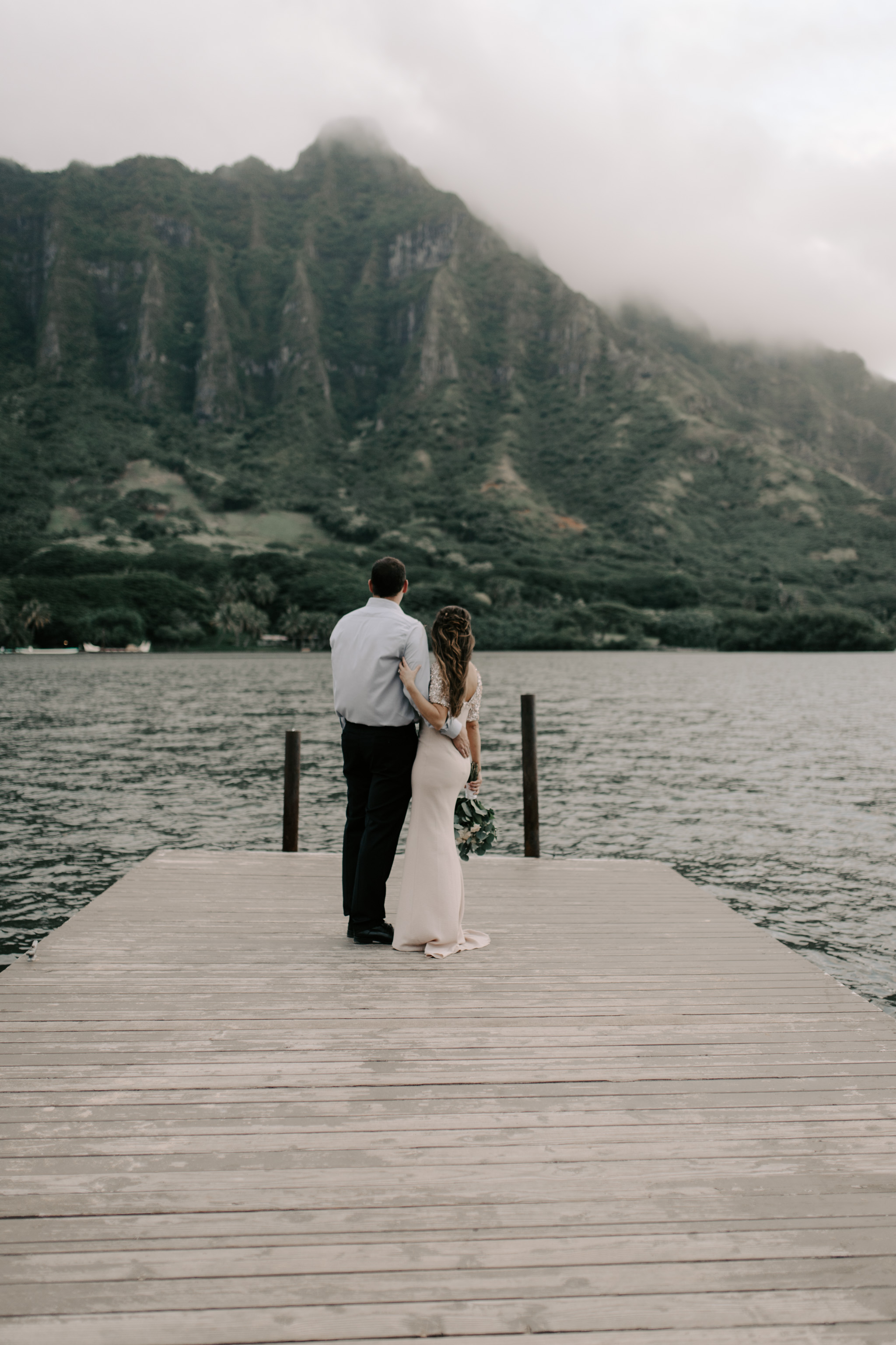 Beautiful Kualoa Ranch Secret Island Elopement by Hawaii Wedding Photographer Desiree Leilani