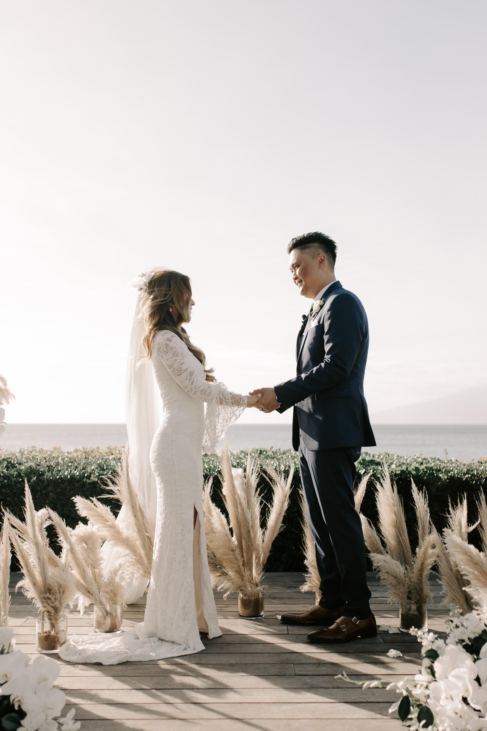 Merriman's Kapalua Maui wedding by Hawaii wedding photographer Desiree Leilani