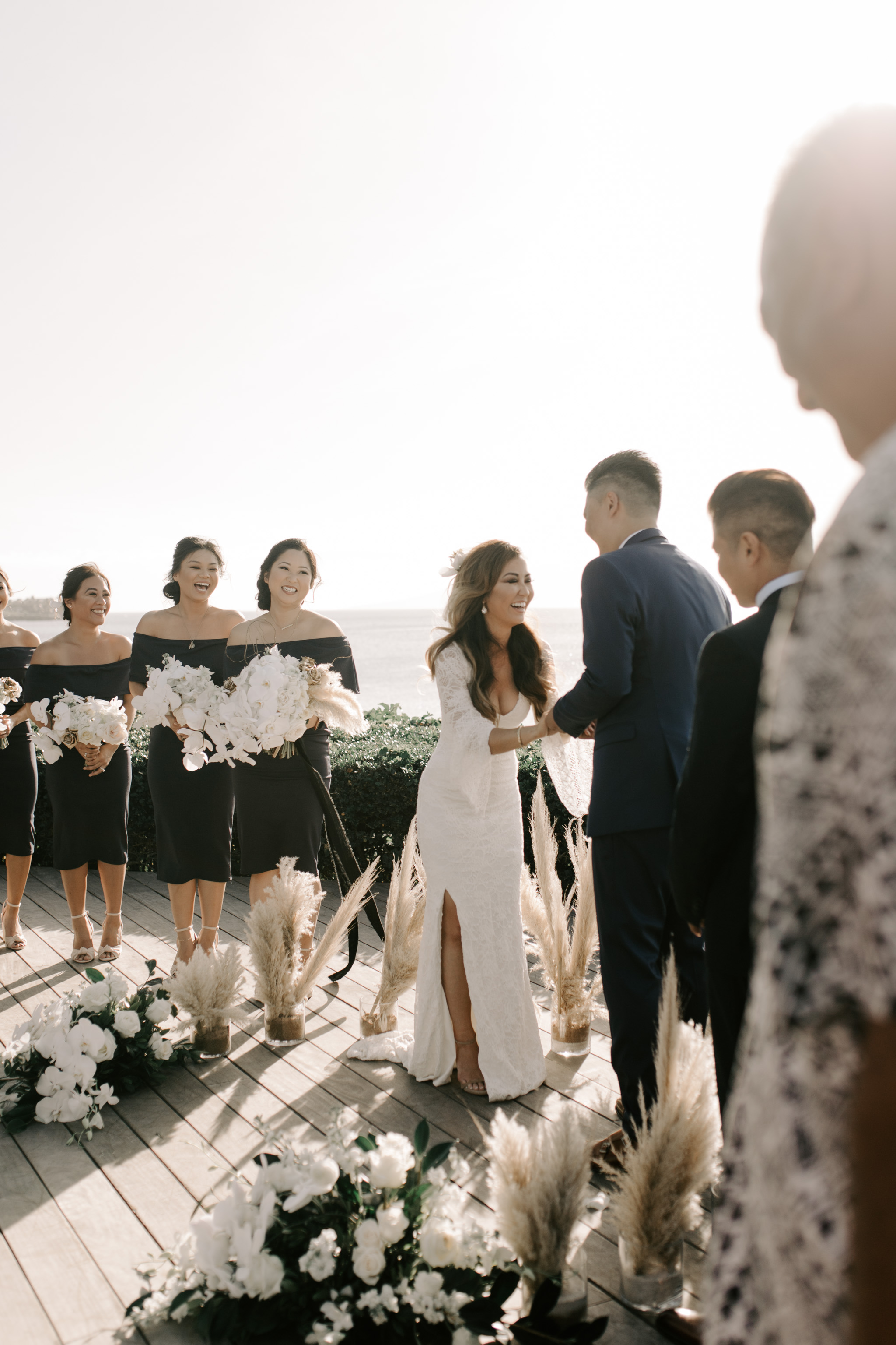 Gorgeous Merriman's Kapalua Maui wedding by Hawaii wedding photographer Desiree Leilani