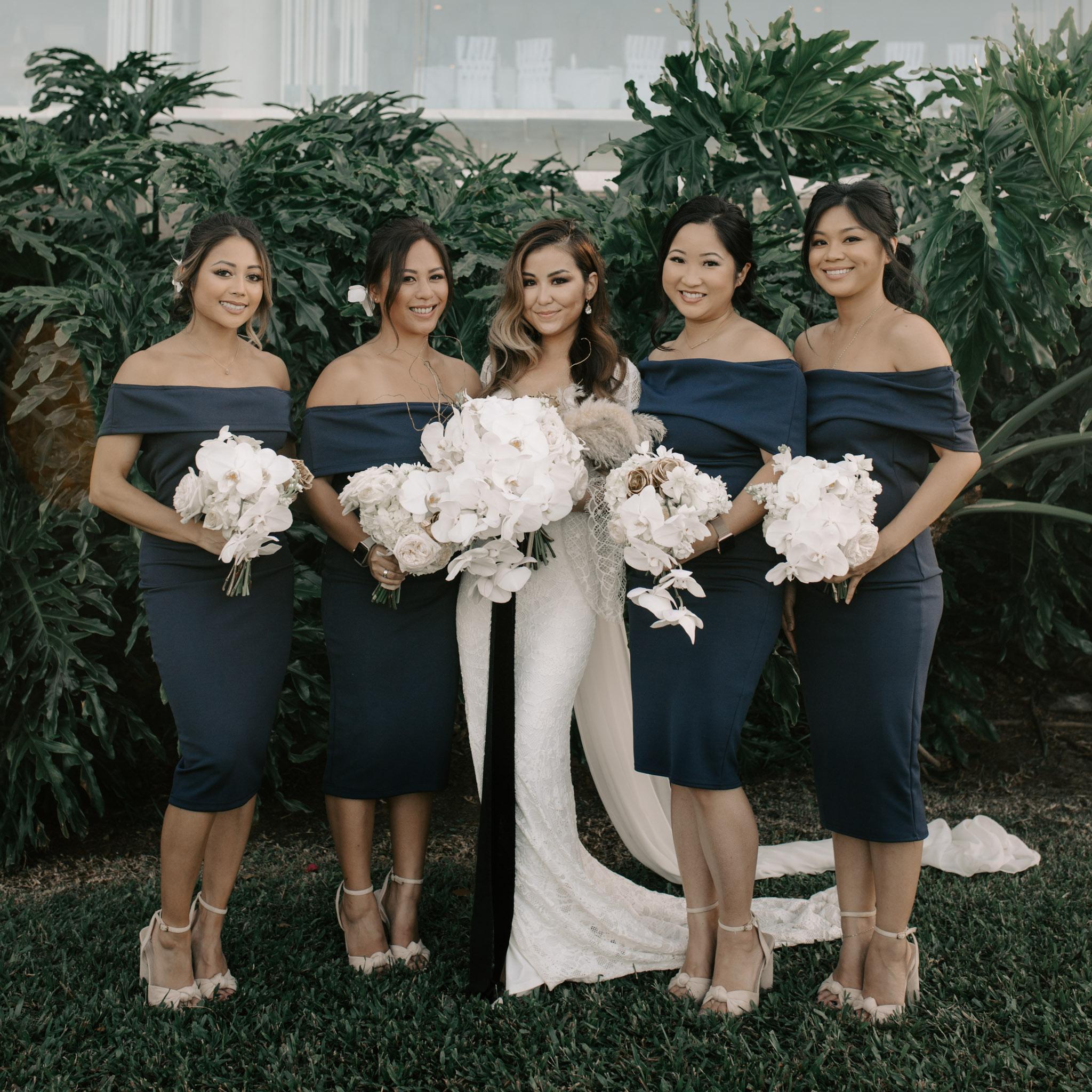 Bridesmaids portrait   Merriman's Kapalua Maui wedding by Hawaii wedding photographer Desiree Leilani