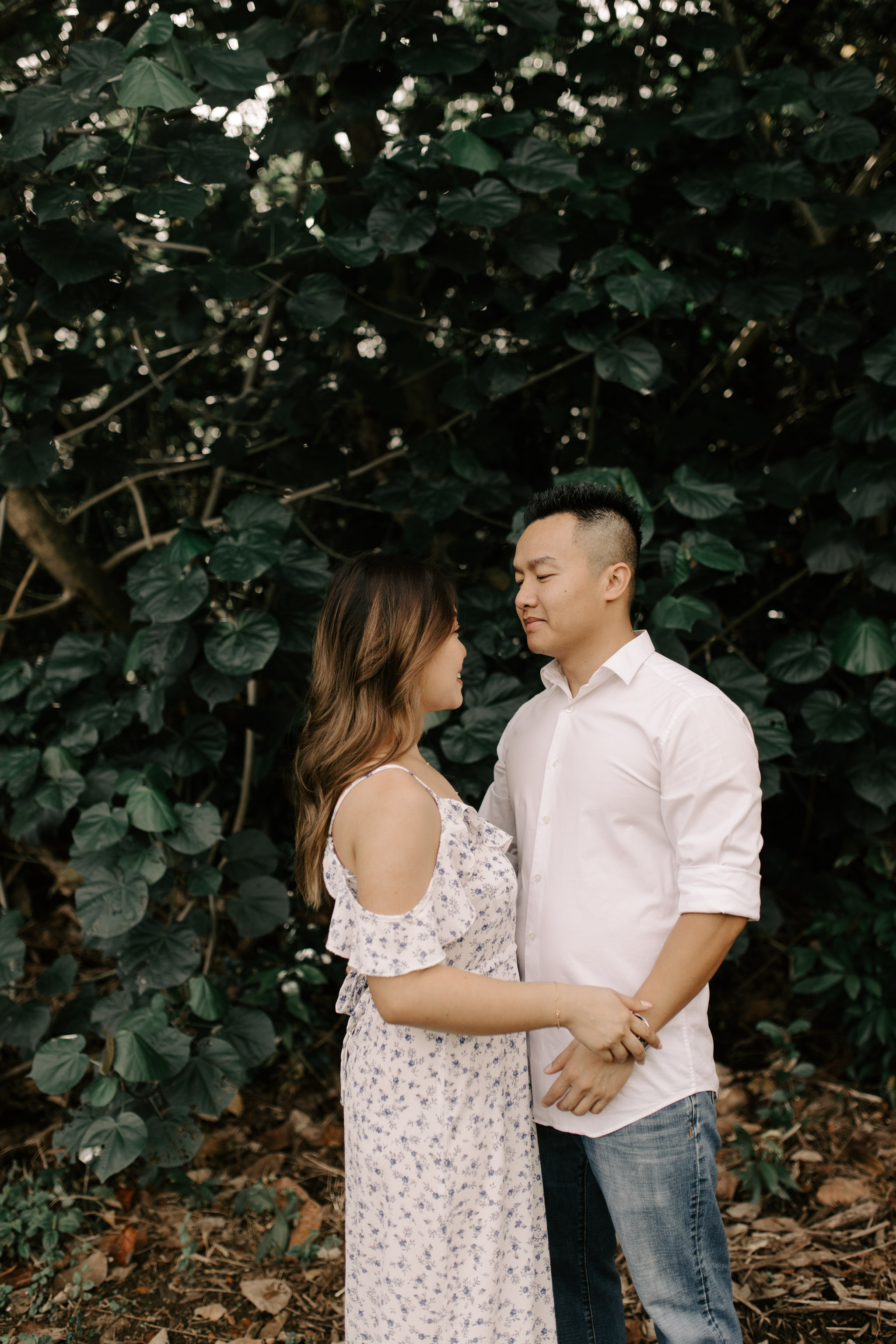 Hoomaluhia Botanical Garden Engagement Photos by Hawaii Wedding Photographer Desiree Leilani