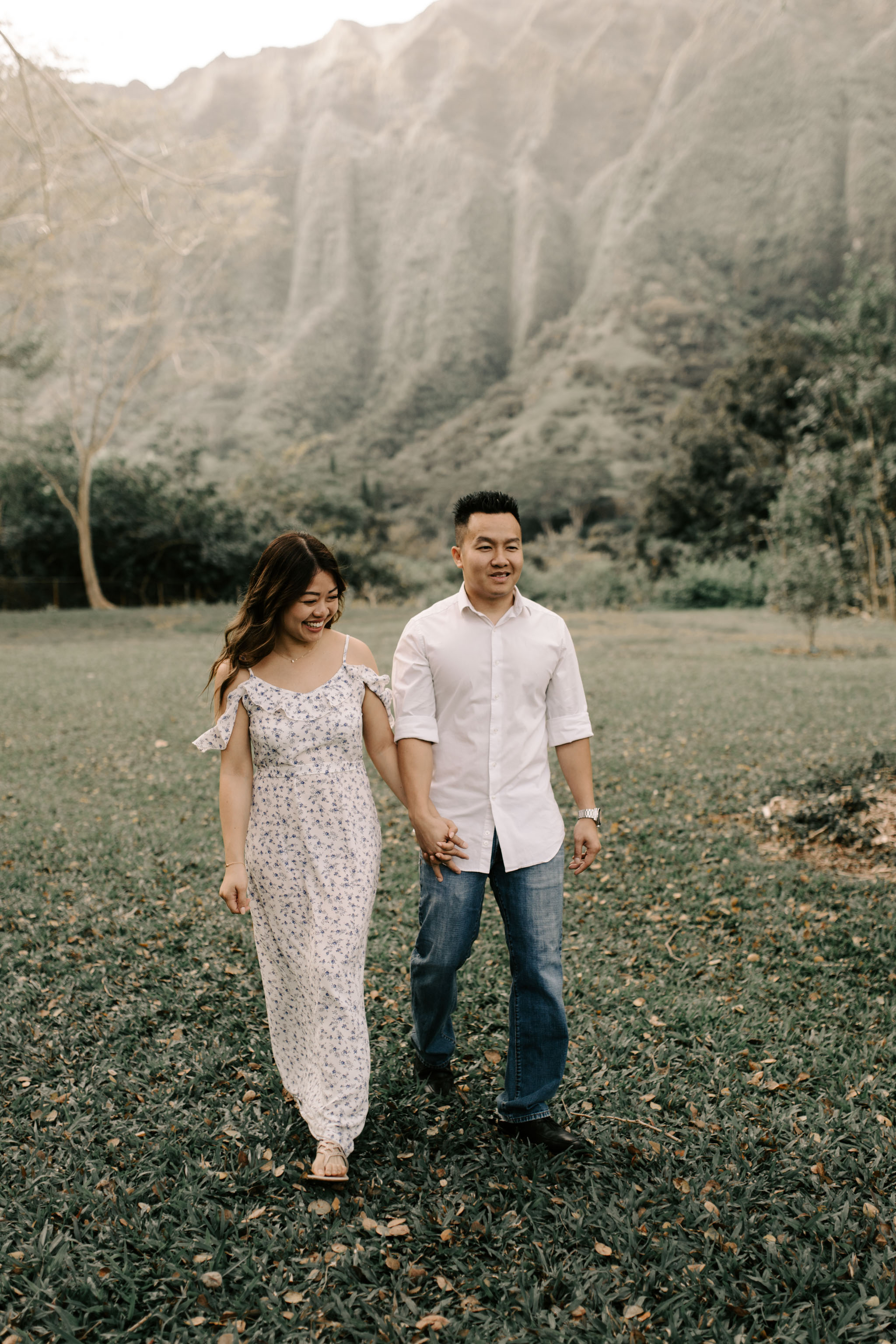 Beautiful Engagement Photos at Hoomaluhia Botanical Gardens by Hawaii Wedding Photographer Desiree Leilani