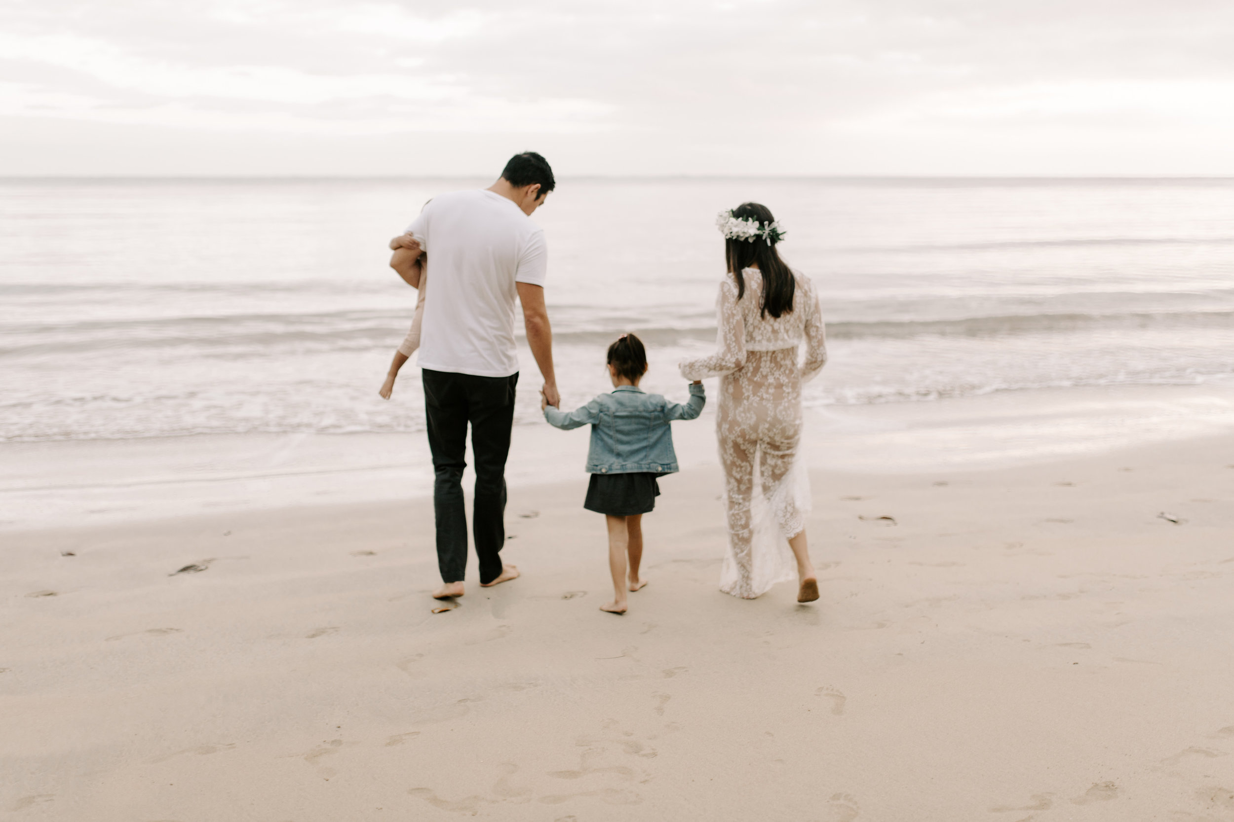 Beautiful Kahana Bay Sunrise Family Session by Oahu Family Photographer Desiree Leilani