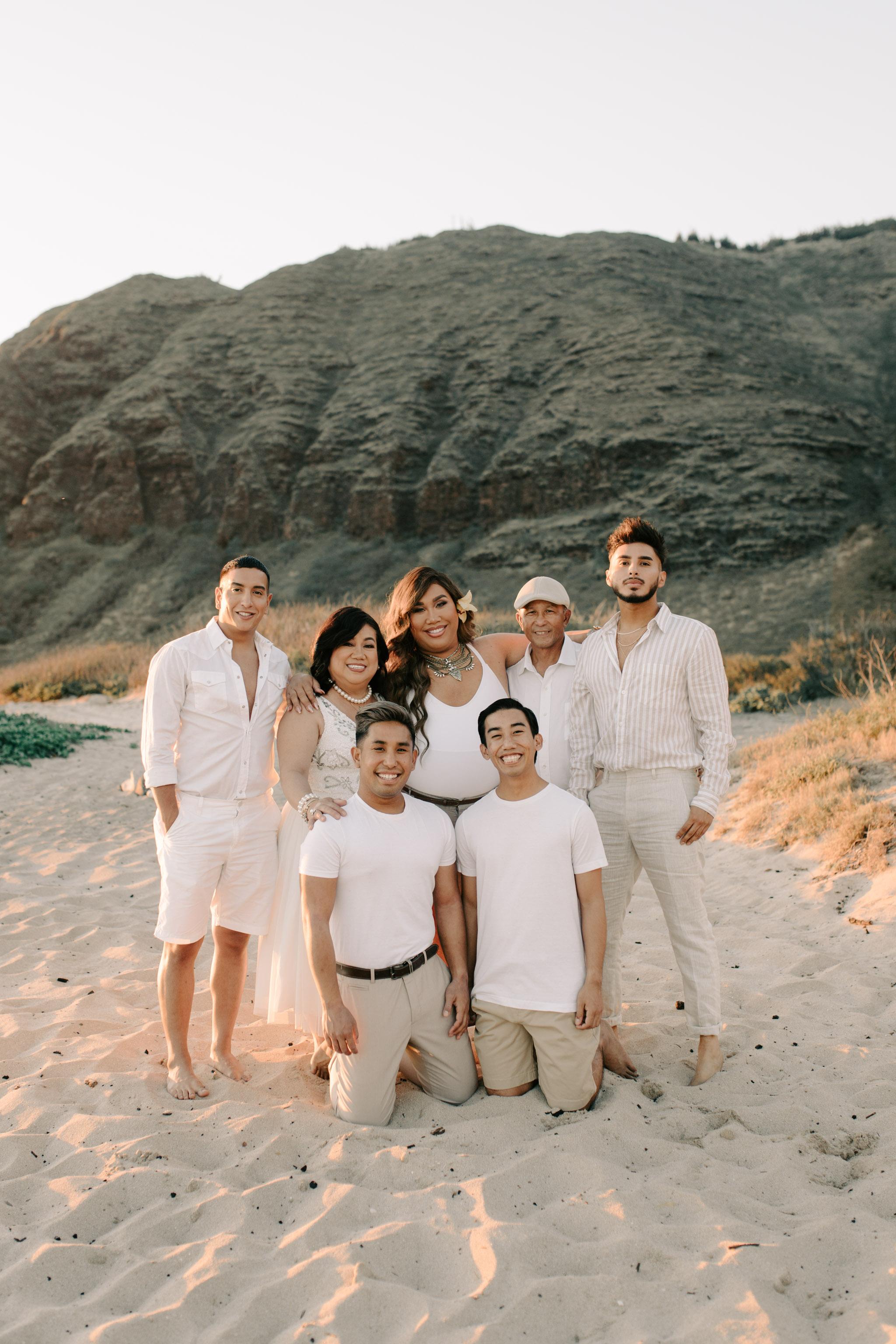 Patrick Starrr Hawaii Family Photos with Mama Starrr, Papa Starrr, Fabian Quinonez, and Roni Herrera by Hawaii family photographer Desiree Leilani