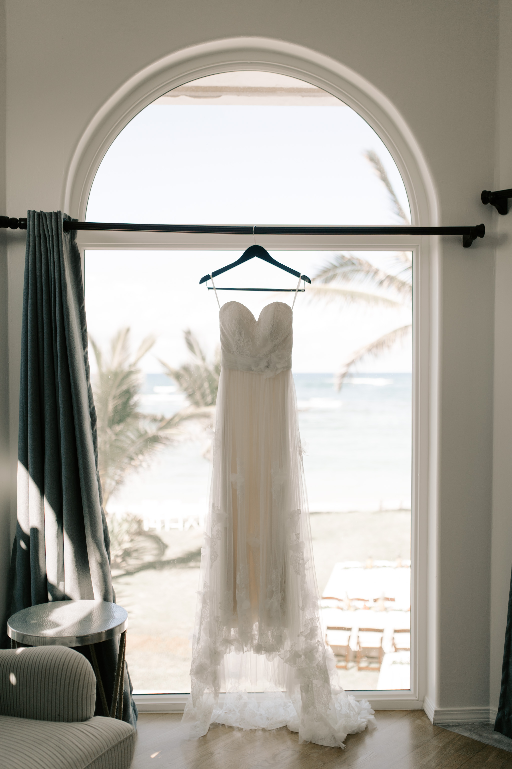 Wedding Dress Picture- Laie Point Backyard Wedding By Hawaii Wedding Photographer Desiree Leilani