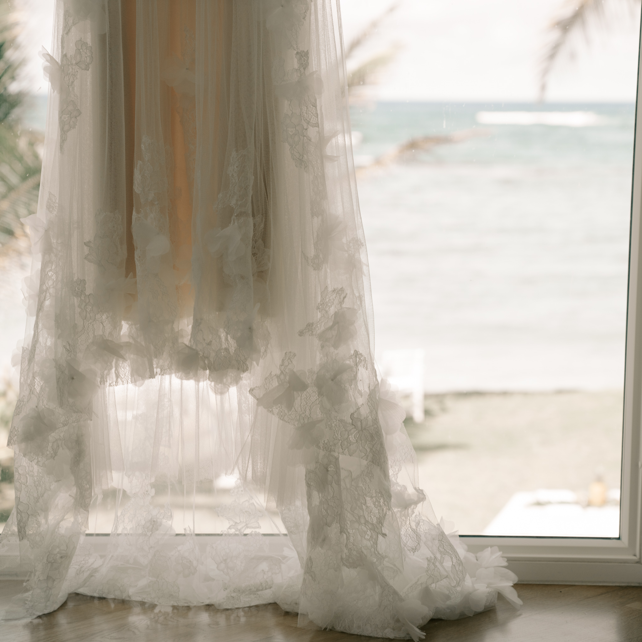Wedding Dress Details- Laie Point Backyard Wedding By Hawaii Wedding Photographer Desiree Leilani