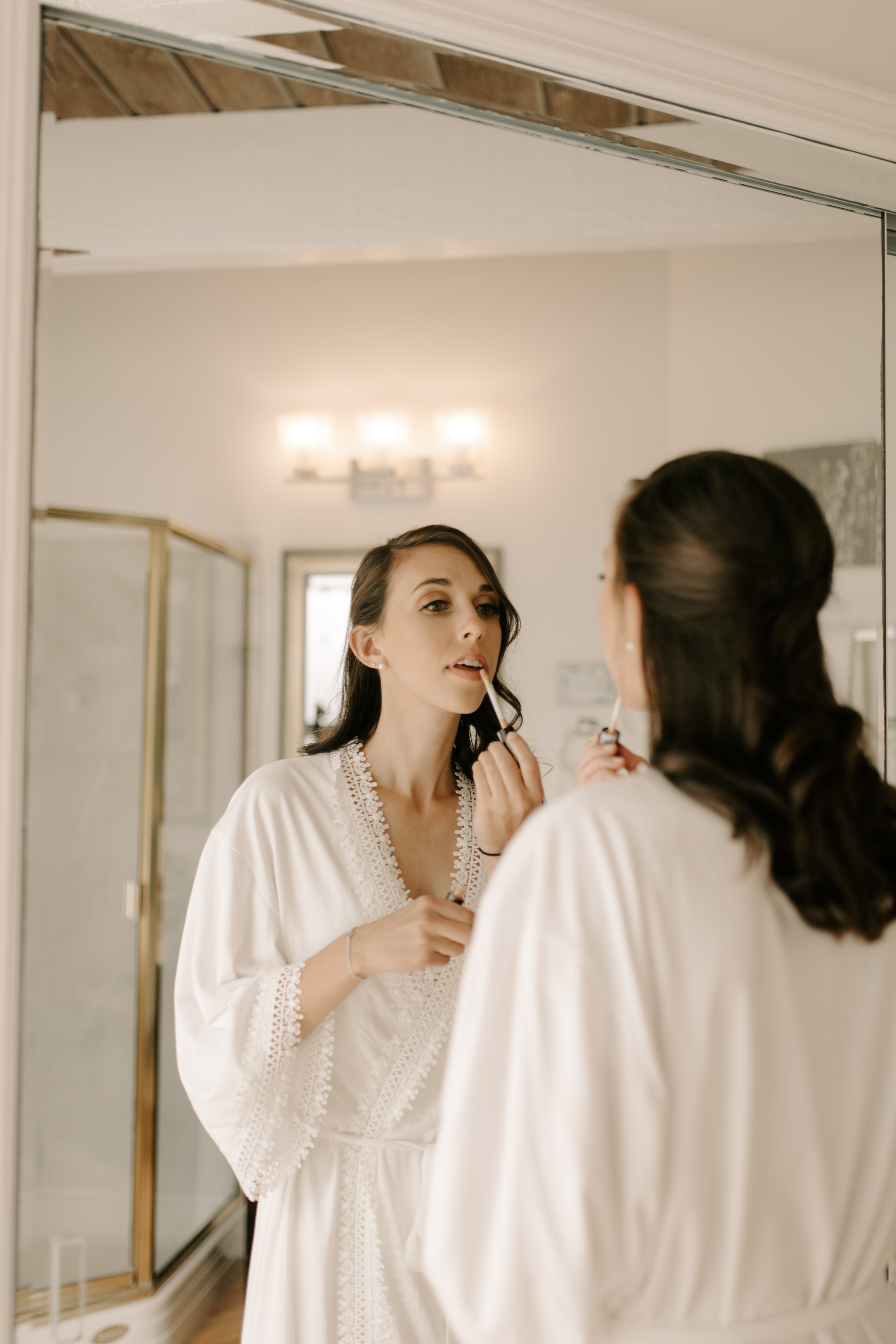 Bride Getting Ready- Laie Point Backyard Wedding By Hawaii Wedding Photographer Desiree Leilani