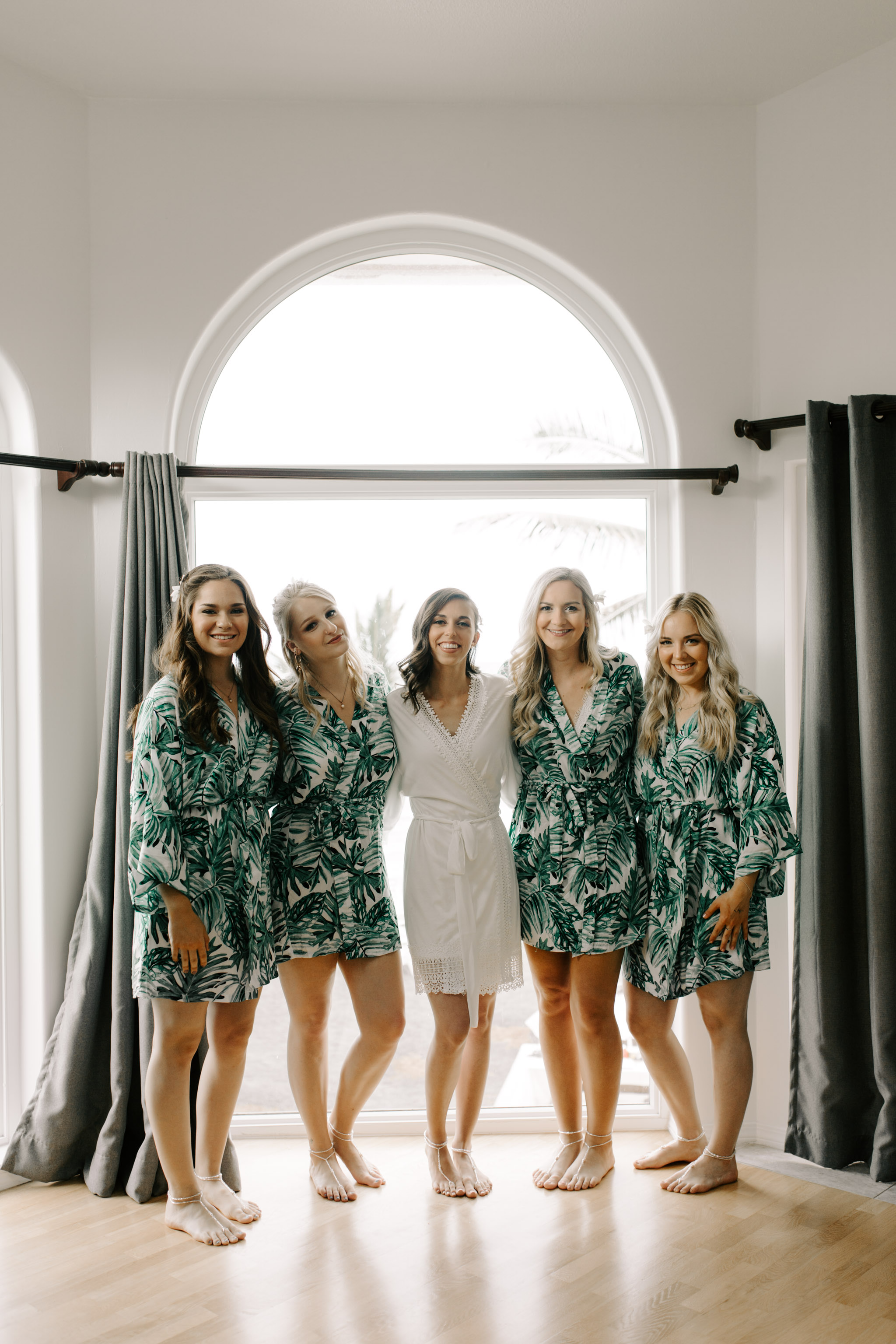 Bridesmaid Robes- Laie Point Backyard Wedding By Hawaii Wedding Photographer Desiree Leilani