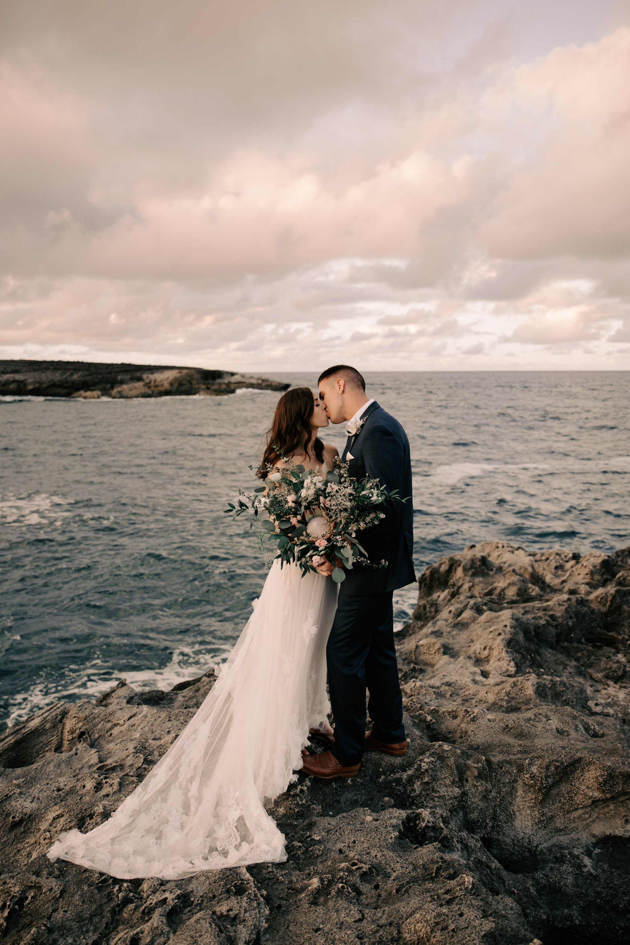 Gorgeous Laie Point Hawaii Wedding By Oahu Fine Art Wedding Photographer Desiree Leilani