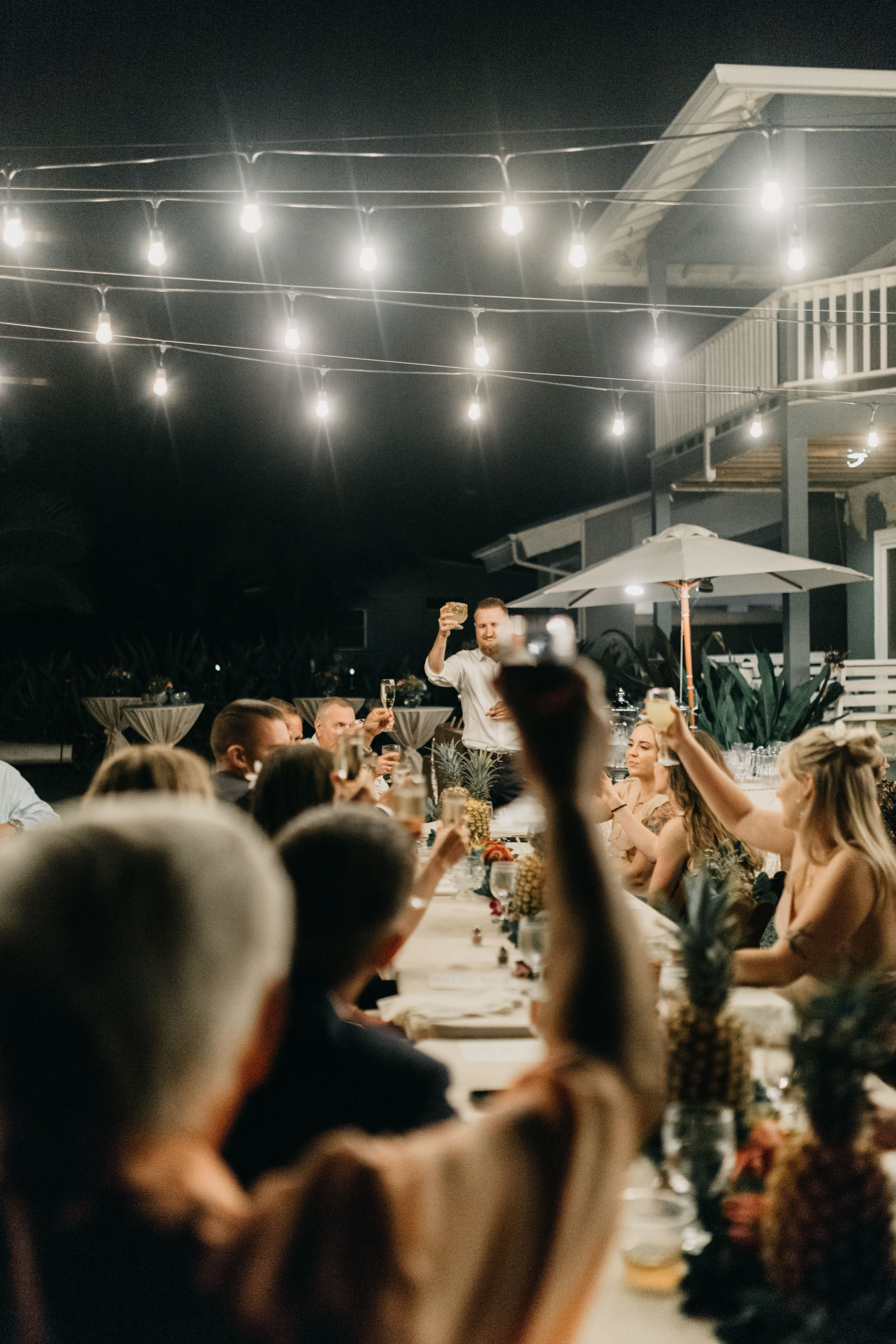 Best Man Toast- Laie Point Backyard Wedding By Hawaii Wedding Photographer Desiree Leilani
