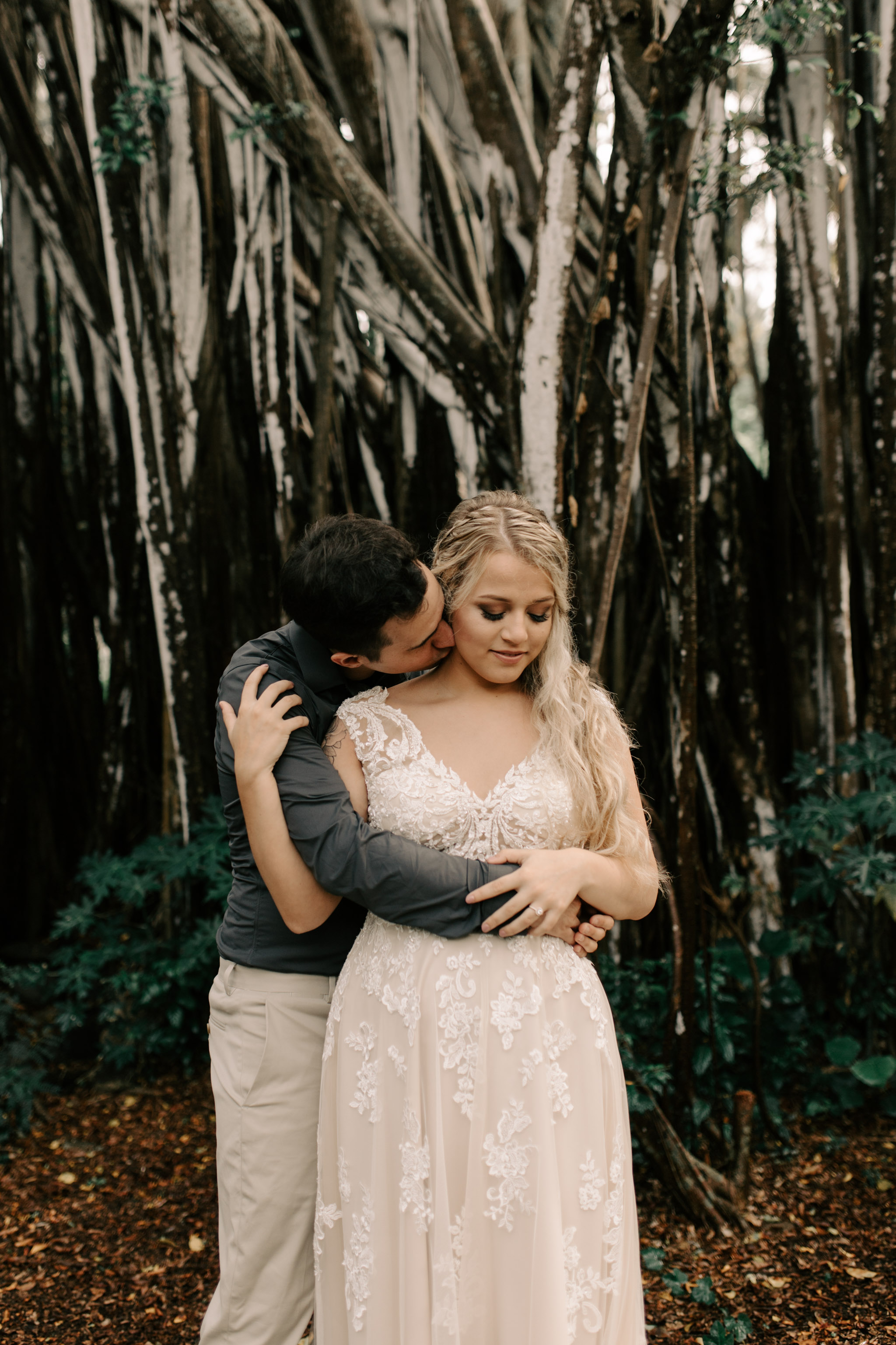 Kawela Bay Oahu Forest Elopement By Hawaii Elopement Photographer Desiree Leilani