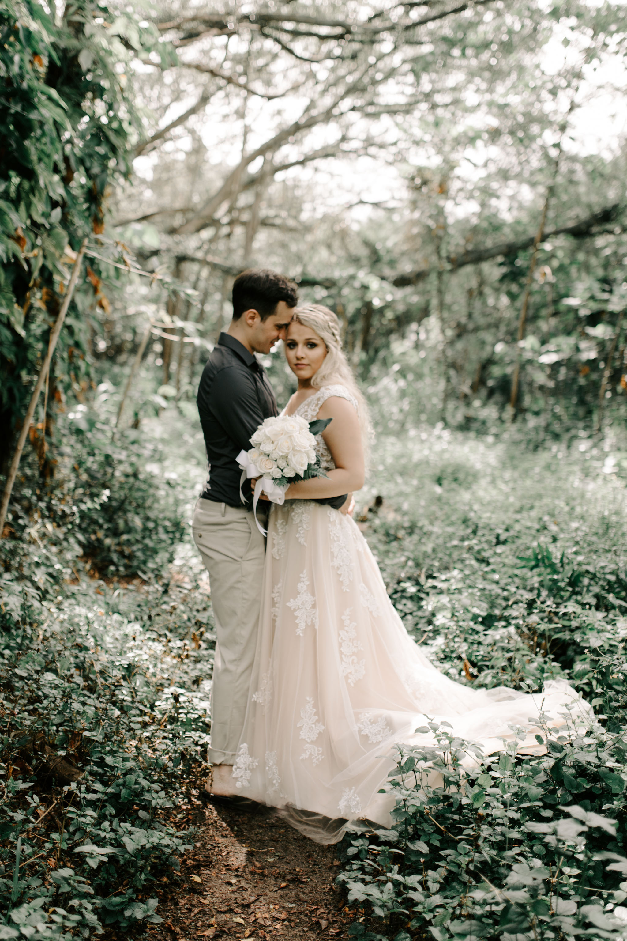 Whimsical Hawaii Forest Elopement By Hawaii Wedding Photographer Desiree Leilani