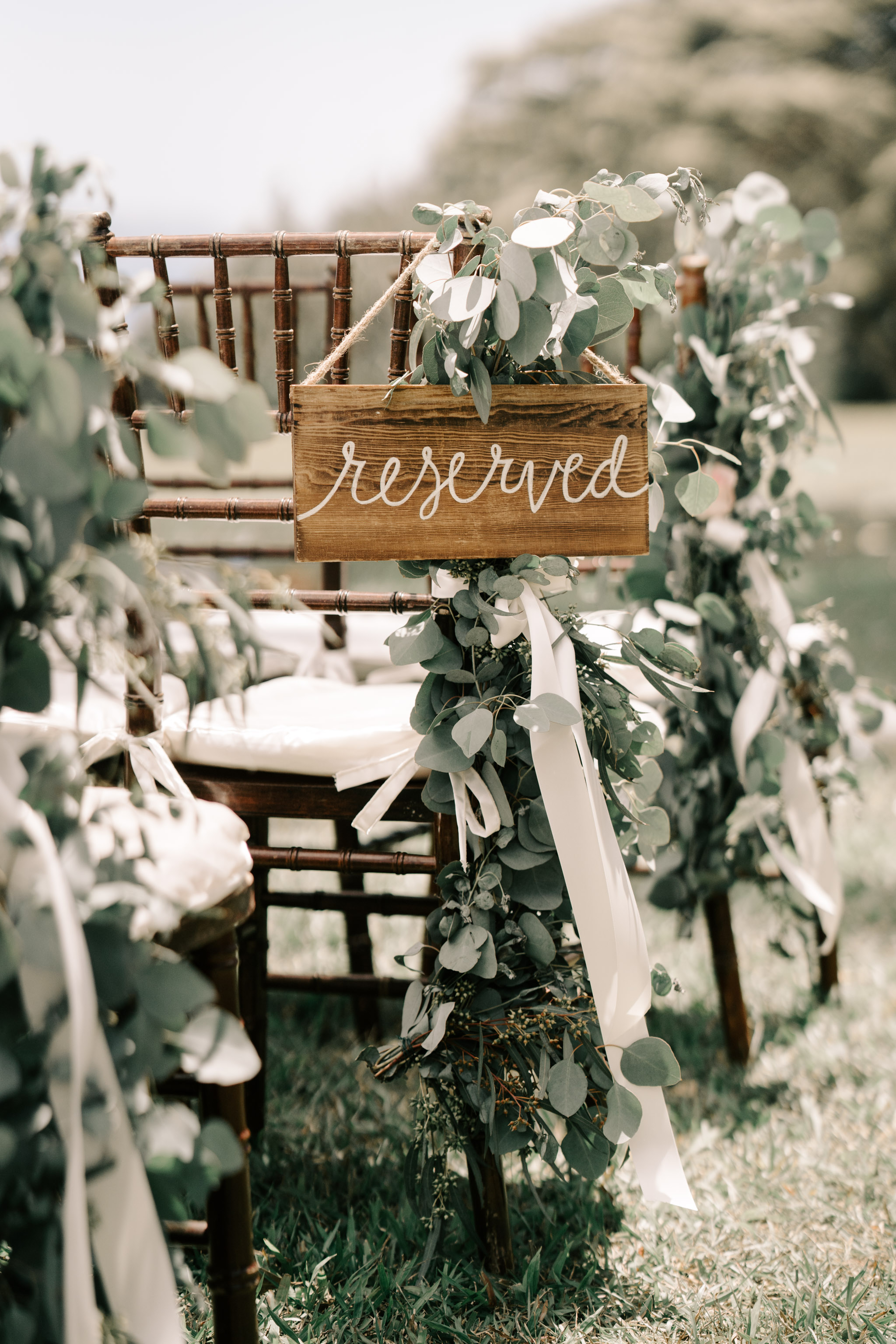 Wedding Ceremony Reserved Sign - Sunset Ranch Hawaii Wedding By Oahu Wedding Photographer Desiree Leilani