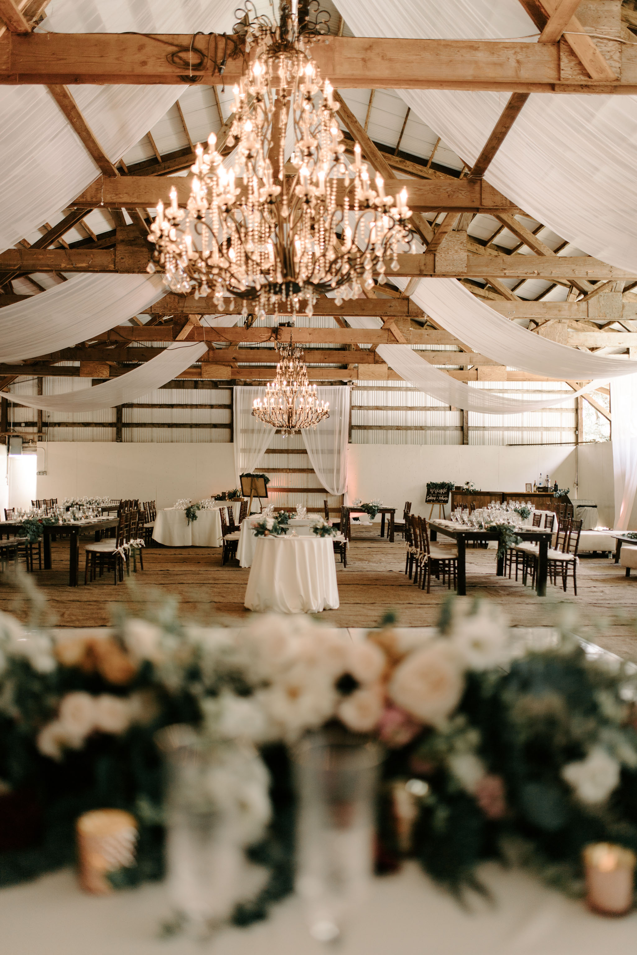 Hawaii Barn Wedding Reception - Sunset Ranch Hawaii Wedding By Oahu Wedding Photographer Desiree Leilani