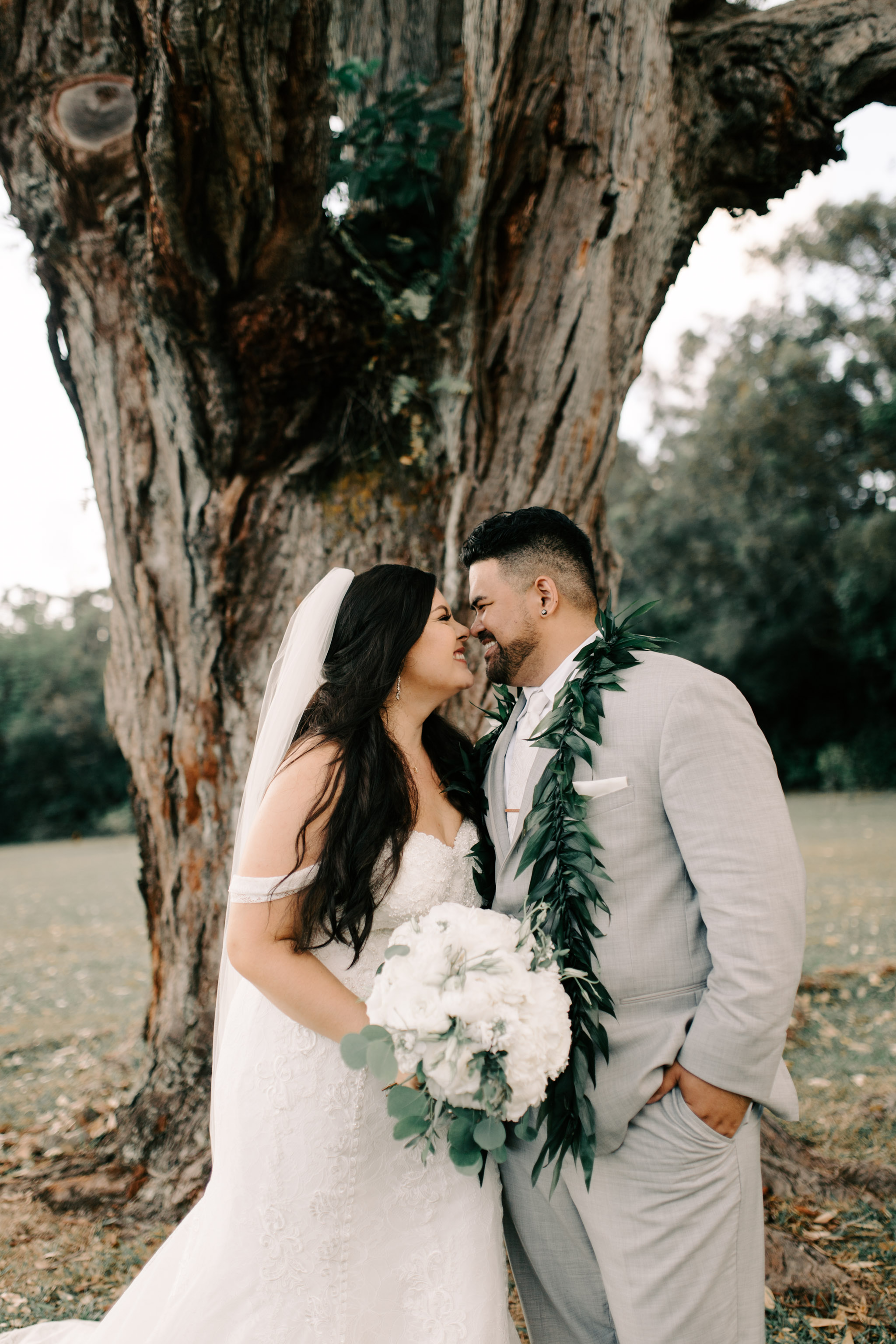 Sunset Ranch Hawaii Wedding By Hawaii Wedding Photographer Desiree Leilani