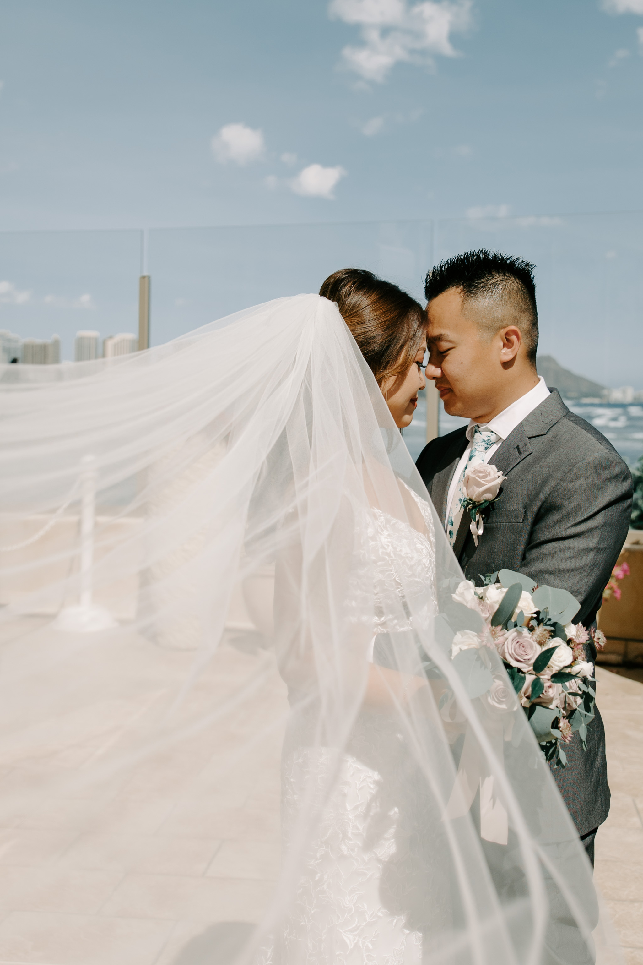 Gorgeous Honolulu Wedding - 53 By The Sea Hawaii Wedding By Oahu Wedding Photographer Desiree Leilani
