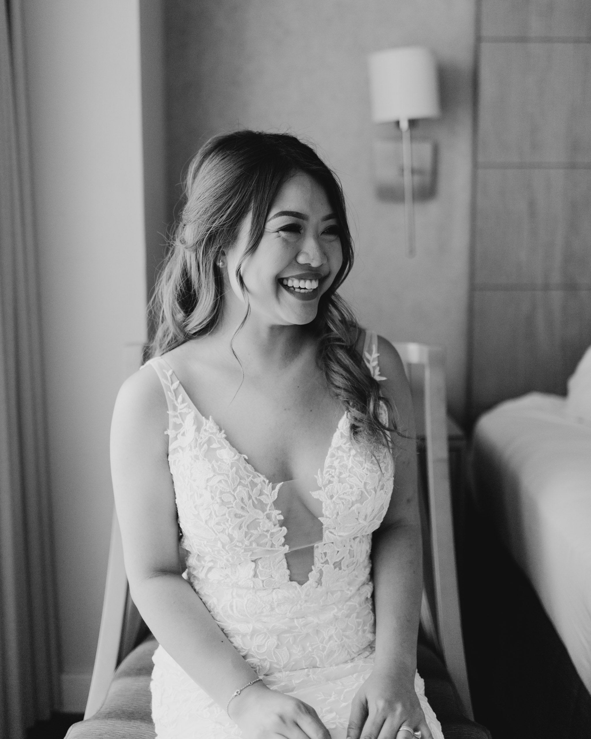 Bridal portrait at the Ala Moana Hotel - 53 By The Sea Hawaii Wedding By Oahu Wedding Photographer Desiree Leilani