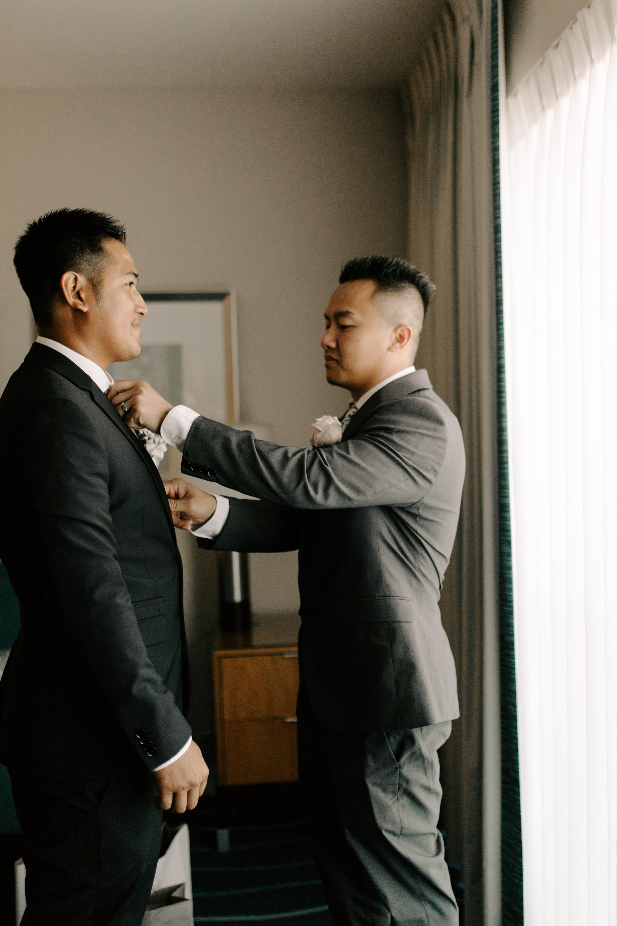 Groom portrait at the Ala Moana Hotel - 53 By The Sea Hawaii Wedding By Oahu Wedding Photographer Desiree Leilani