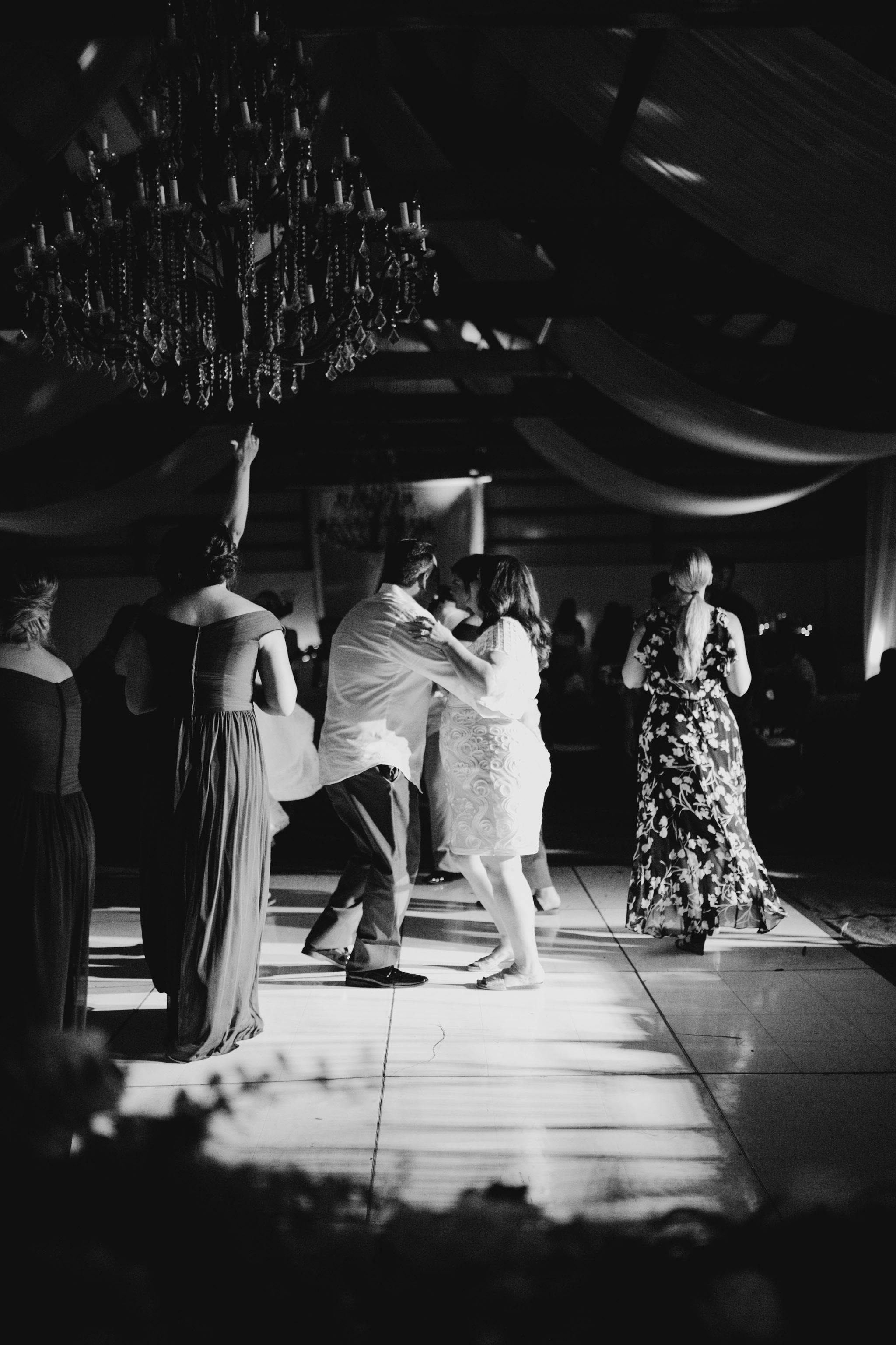 Mother and Father of the Bride Dancing Photo - Sunset Ranch Hawaii Barn Wedding Reception By Oahu Wedding Photographer Desiree Leilani