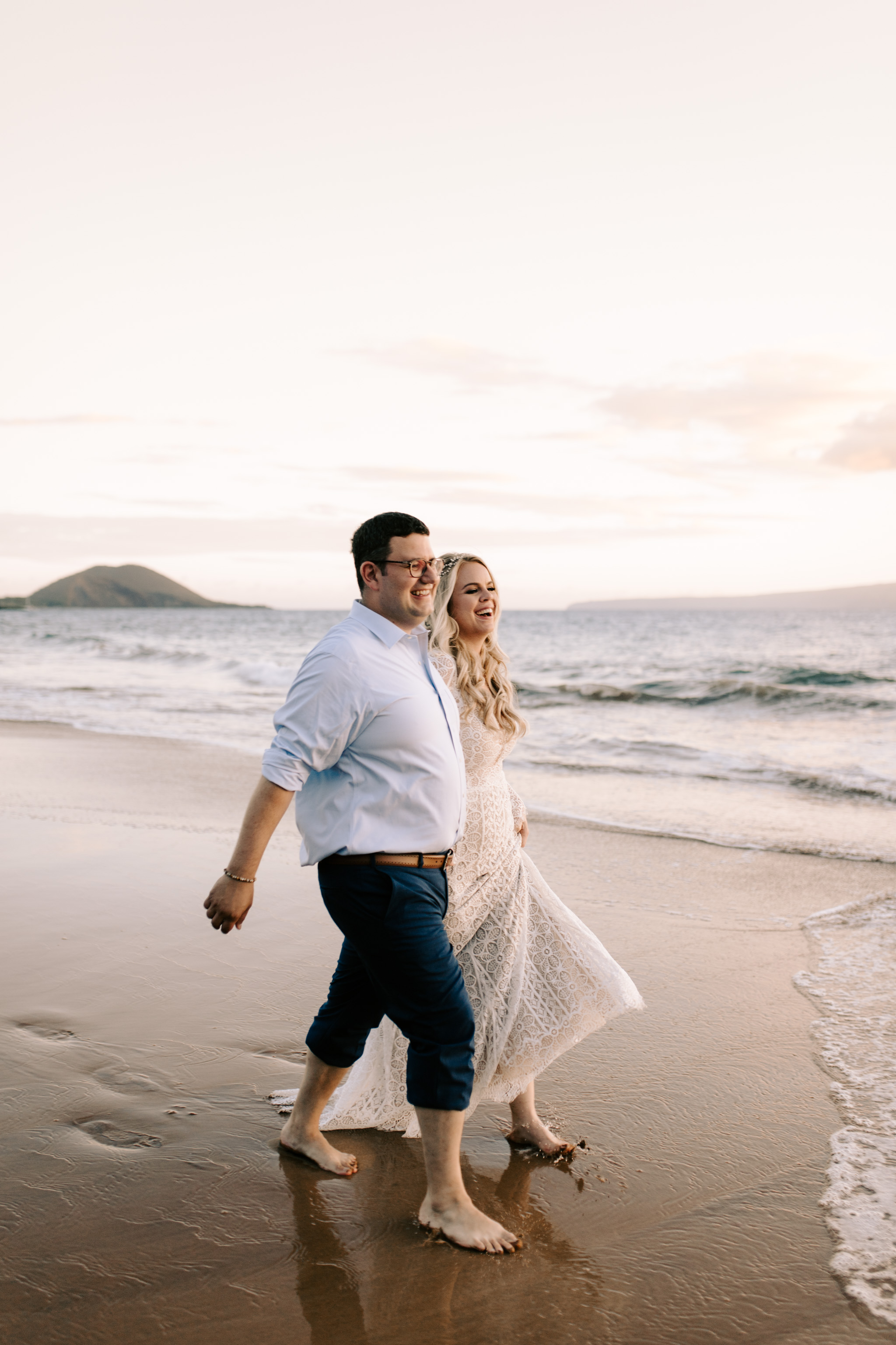 BHLDN Adelaide Gown - Andaz Maui and Puulenalena Beach Vow Renewal By Hawaii Wedding Photographer Desiree Leilani