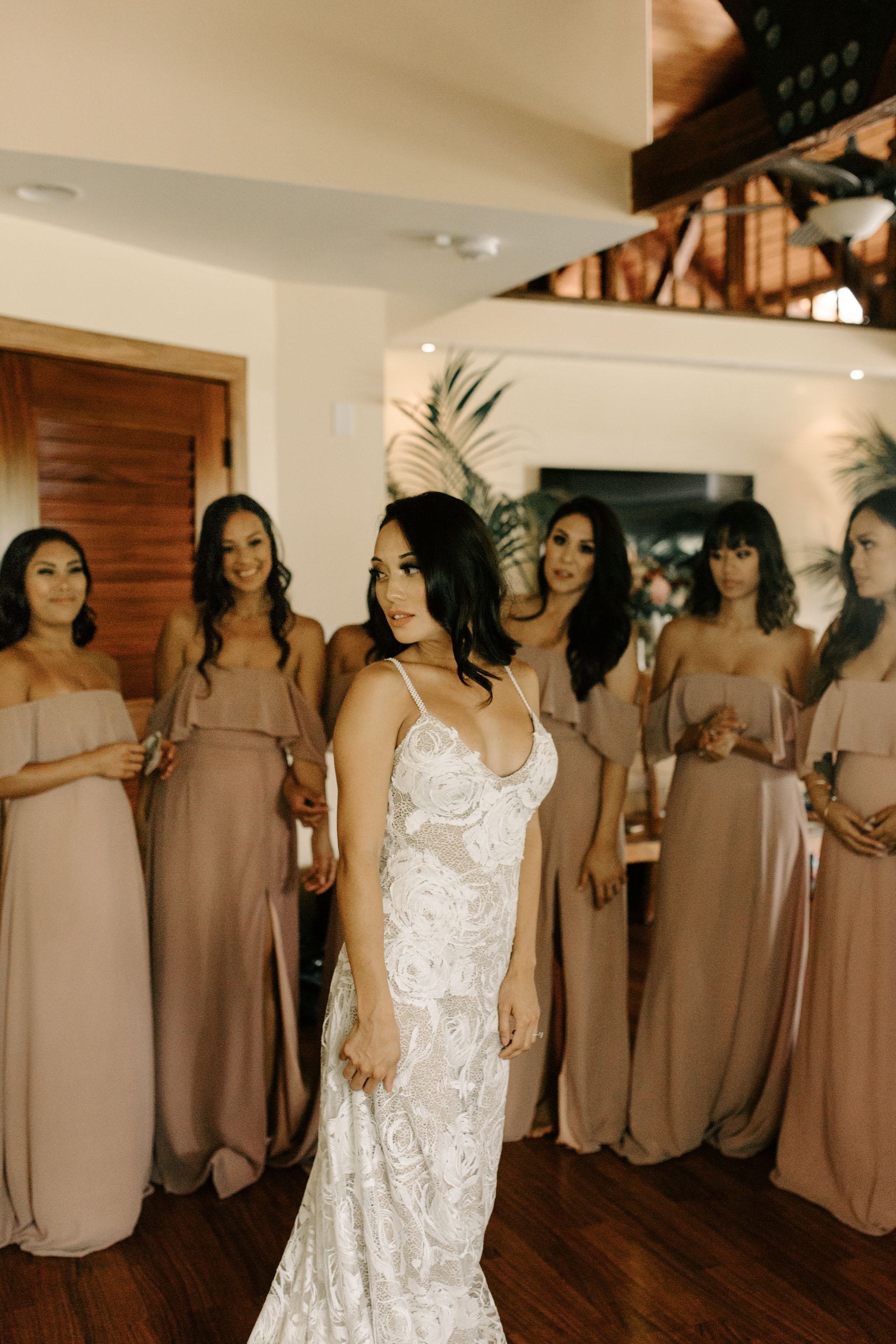Grace Loves Lace Rosa Wedding Gown - Hale Koa Phineas Estate Wedding By Oahu Wedding Photographer Desiree Leilani