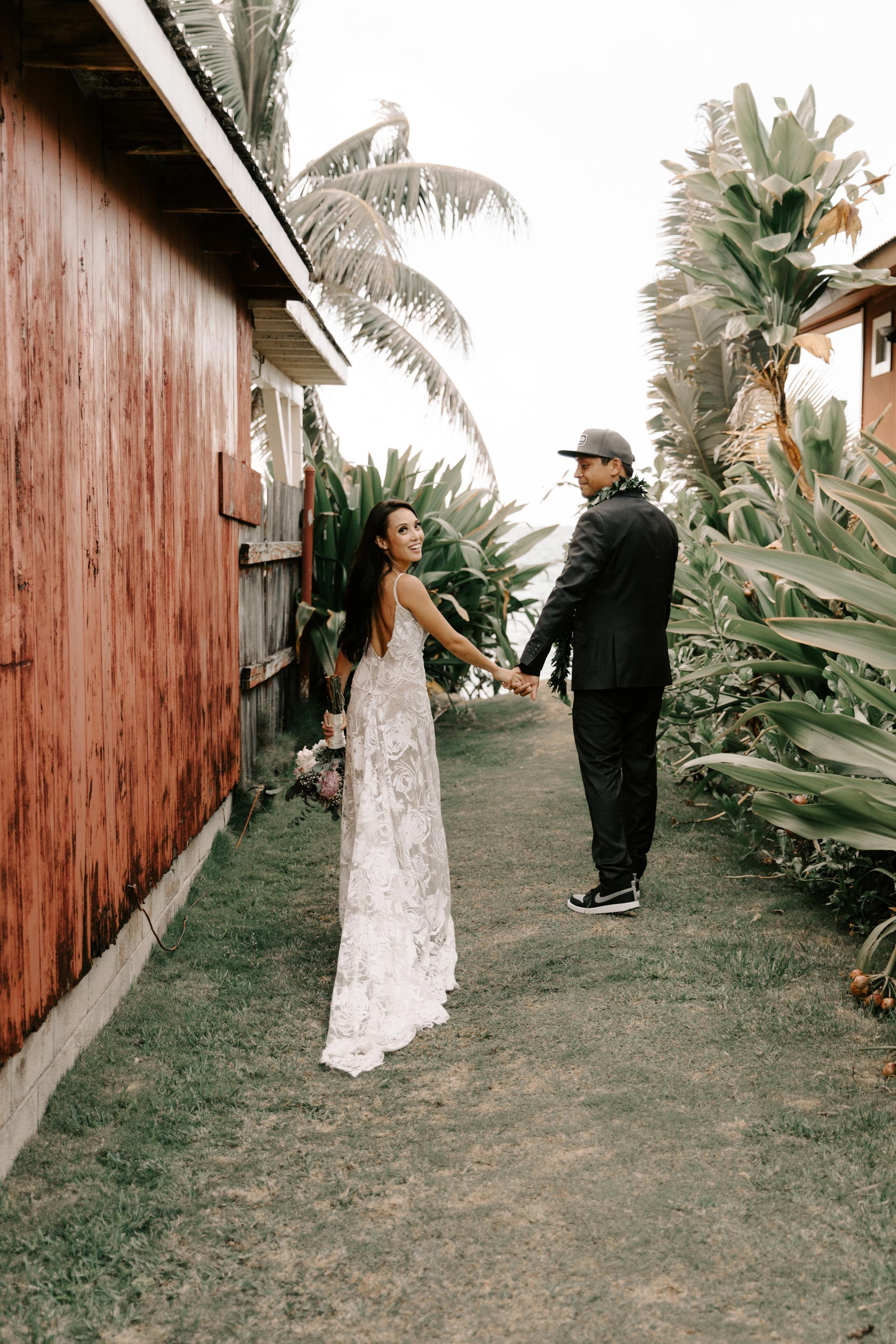 Grace Loves Lace Rosa Wedding Gown - Hale Koa Phineas Estate Wedding By Hawaii Wedding Photographer Desiree Leilani