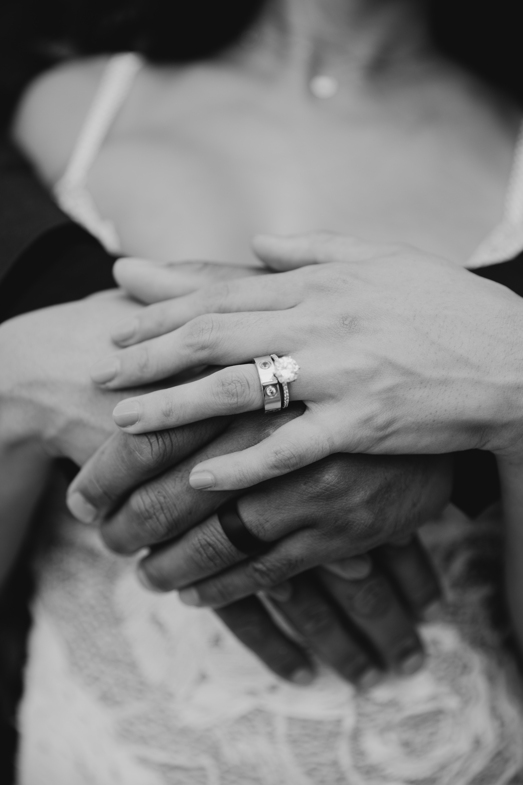 Cartier Black and White Wedding Ring Photo - Hale Koa Phineas Estate Wedding By Oahu Wedding Photographer Desiree Leilani