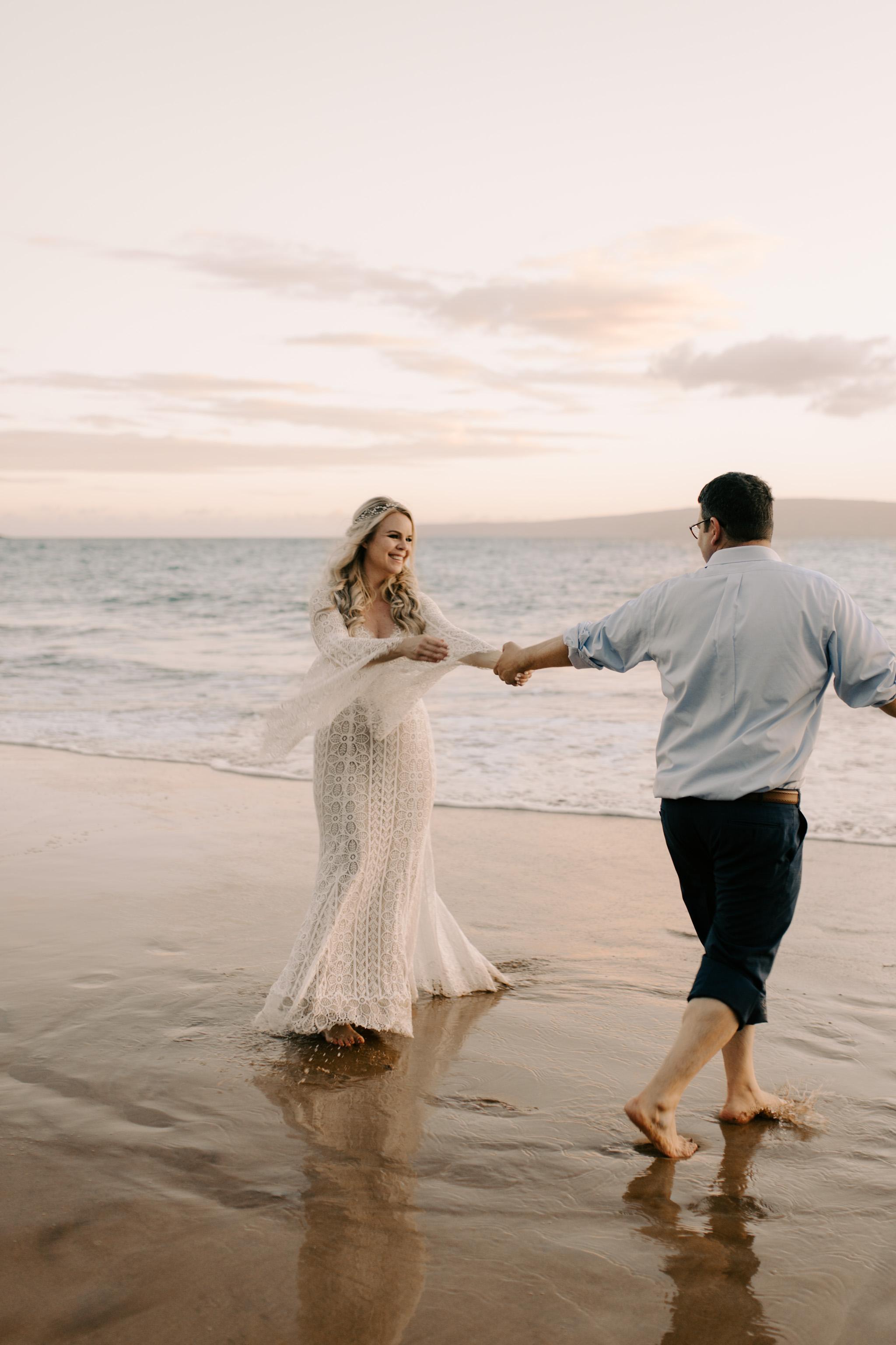 Puulenalena Beach Maui Wedding By Hawaii Wedding Photographer Desiree Leilani