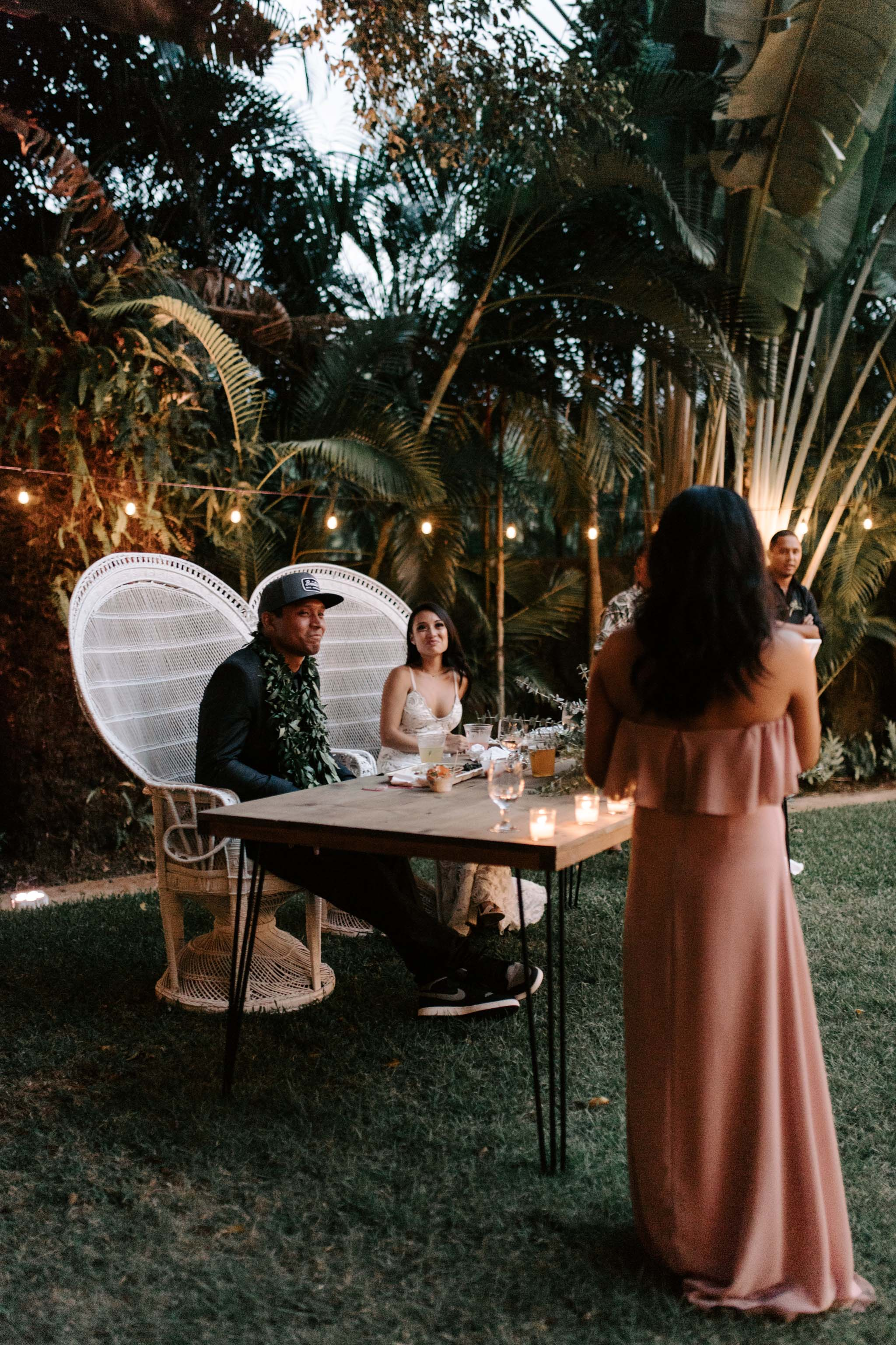 Maid of Honor Speech Picture - Hale Koa Phineas Estate Wedding By Oahu Wedding Photographer Desiree Leilani
