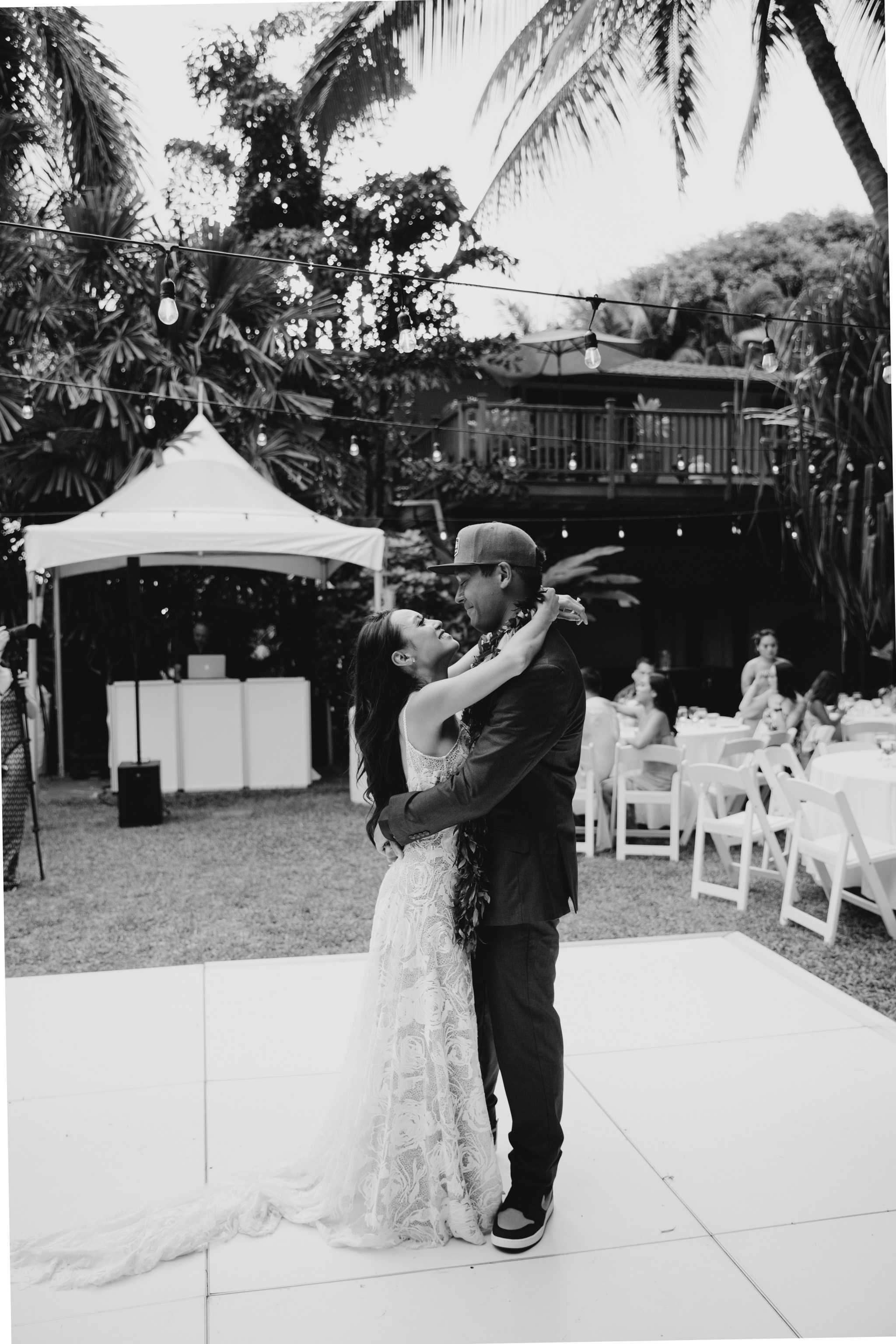 Bride and Groom First Dance - Hale Koa Phineas Estate Wedding By Hawaii Wedding Photographer Desiree Leilani