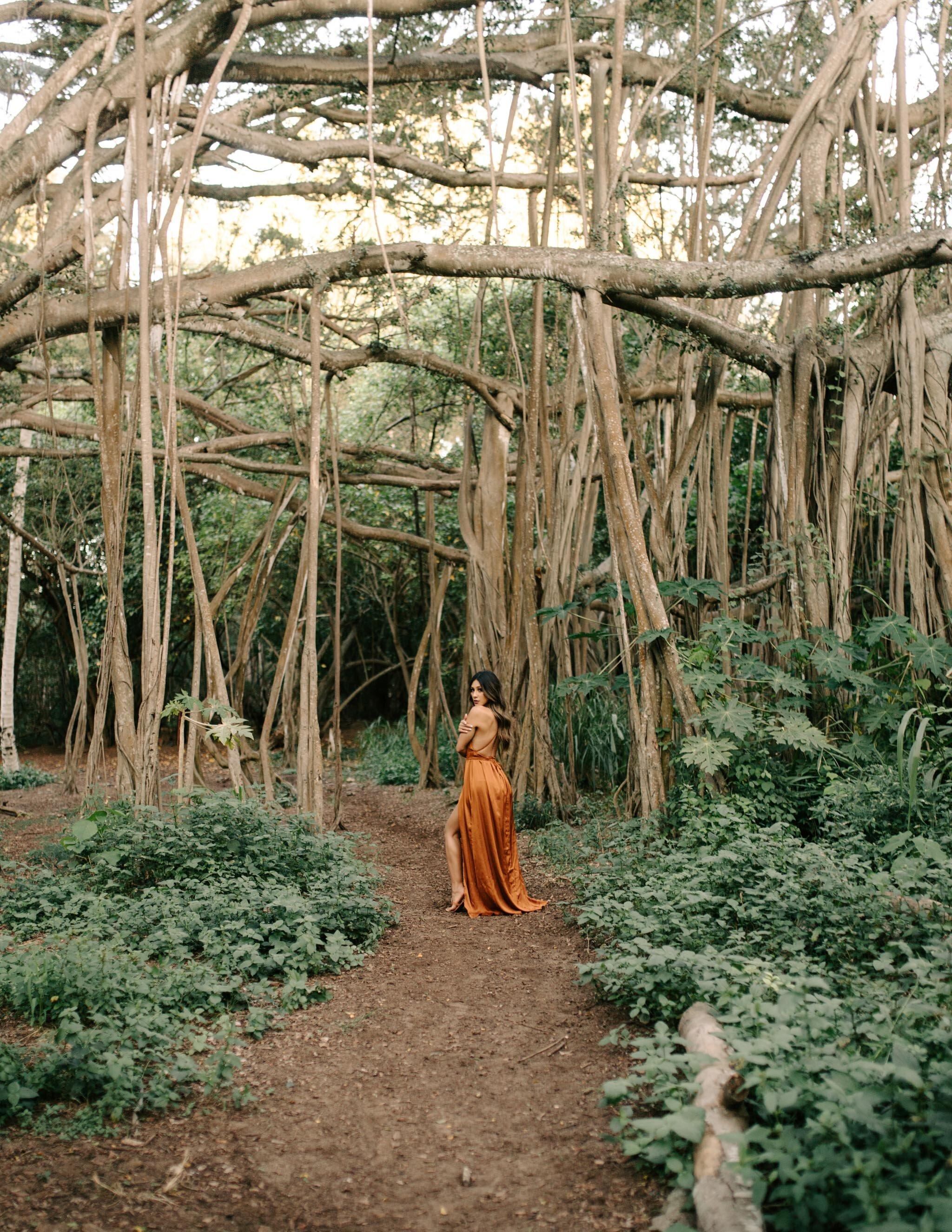 Jxnmama Birthday Photoshoot at Kawela Bay Banyan Trees By Oahu Photographer Desiree Leilani
