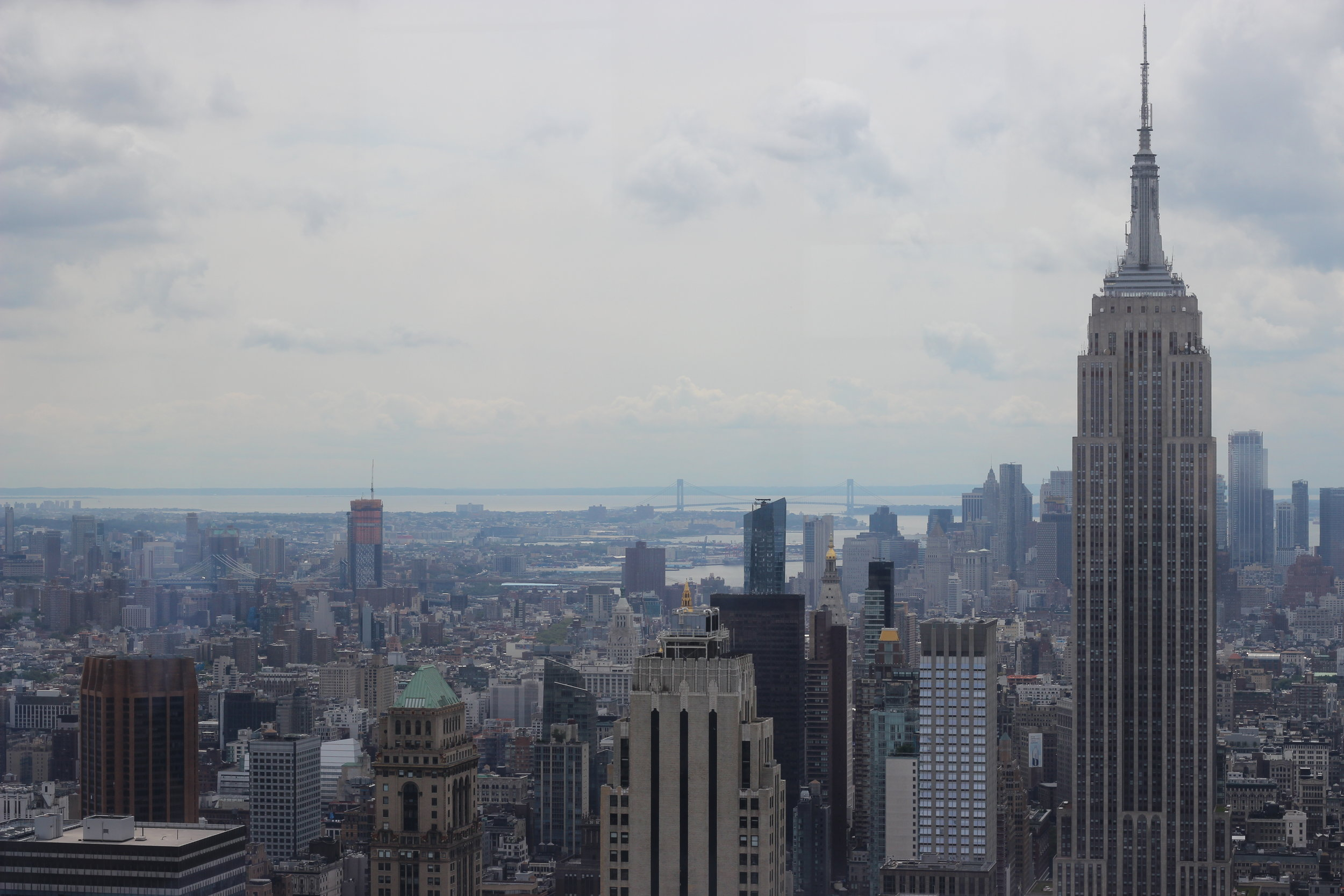 View from the Rockefeller Centre ft. The Empire State Building