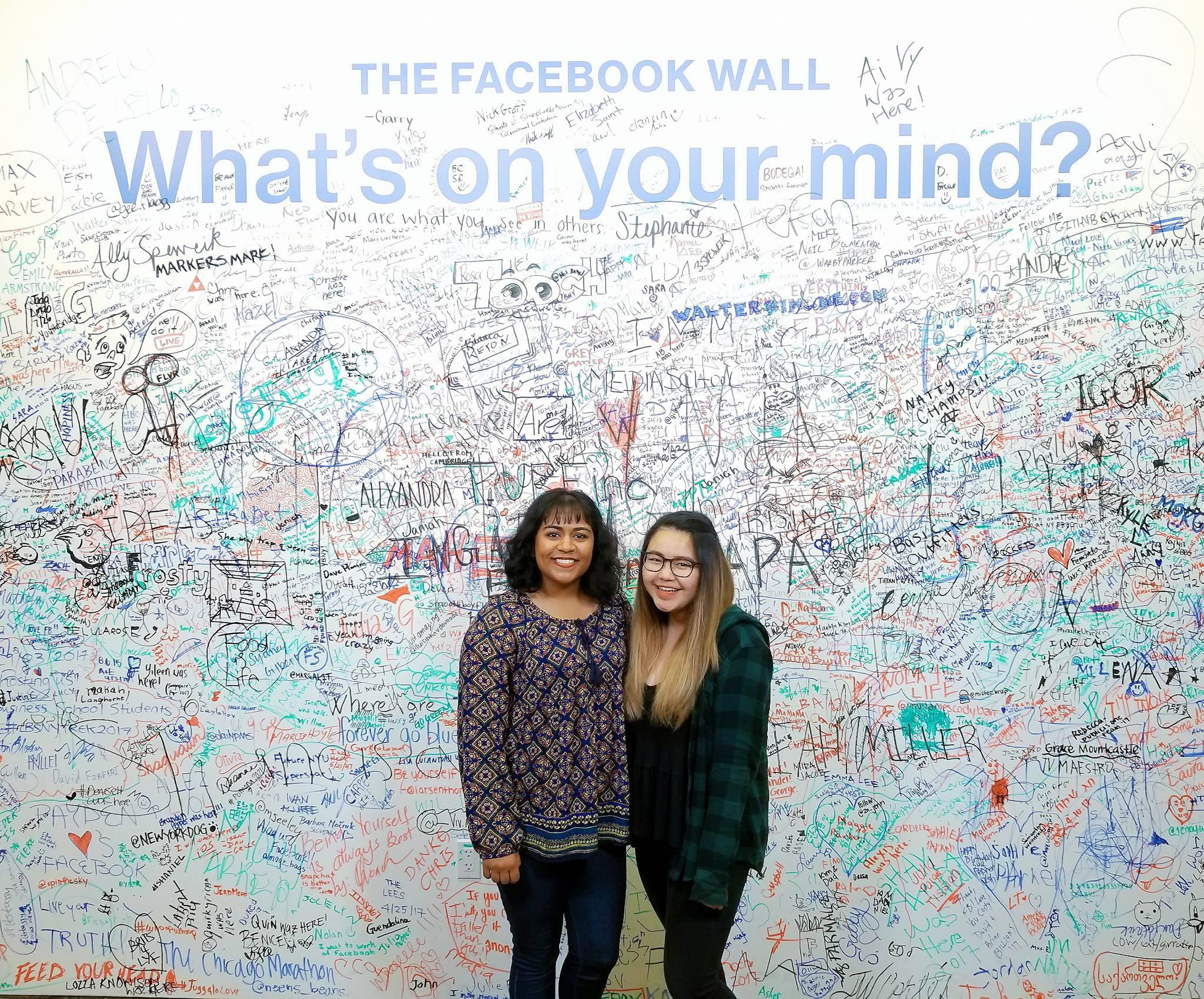 Left our mark on the Facebook NY Wall!