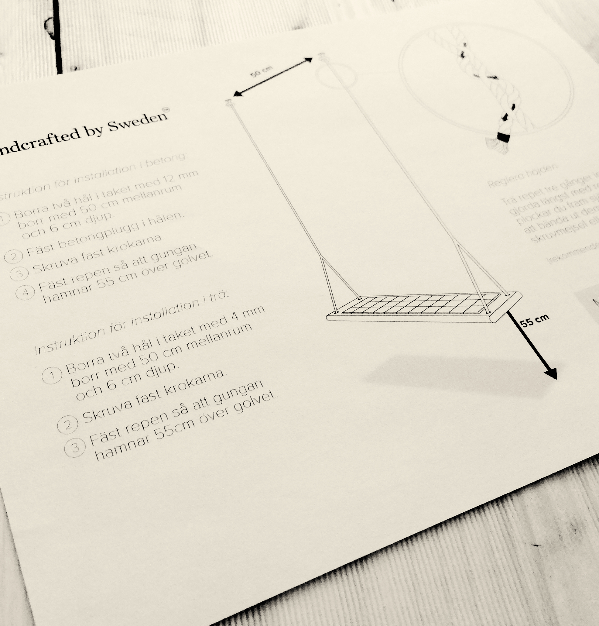 A small view of the instruction paper.