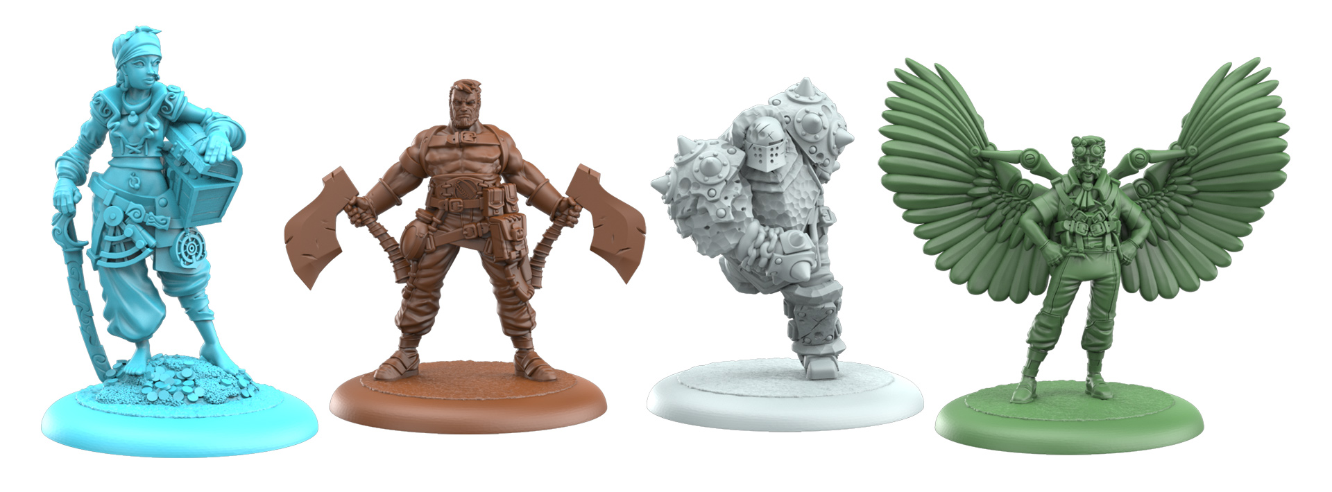 3D Renders of the Limited Edition Miniatures