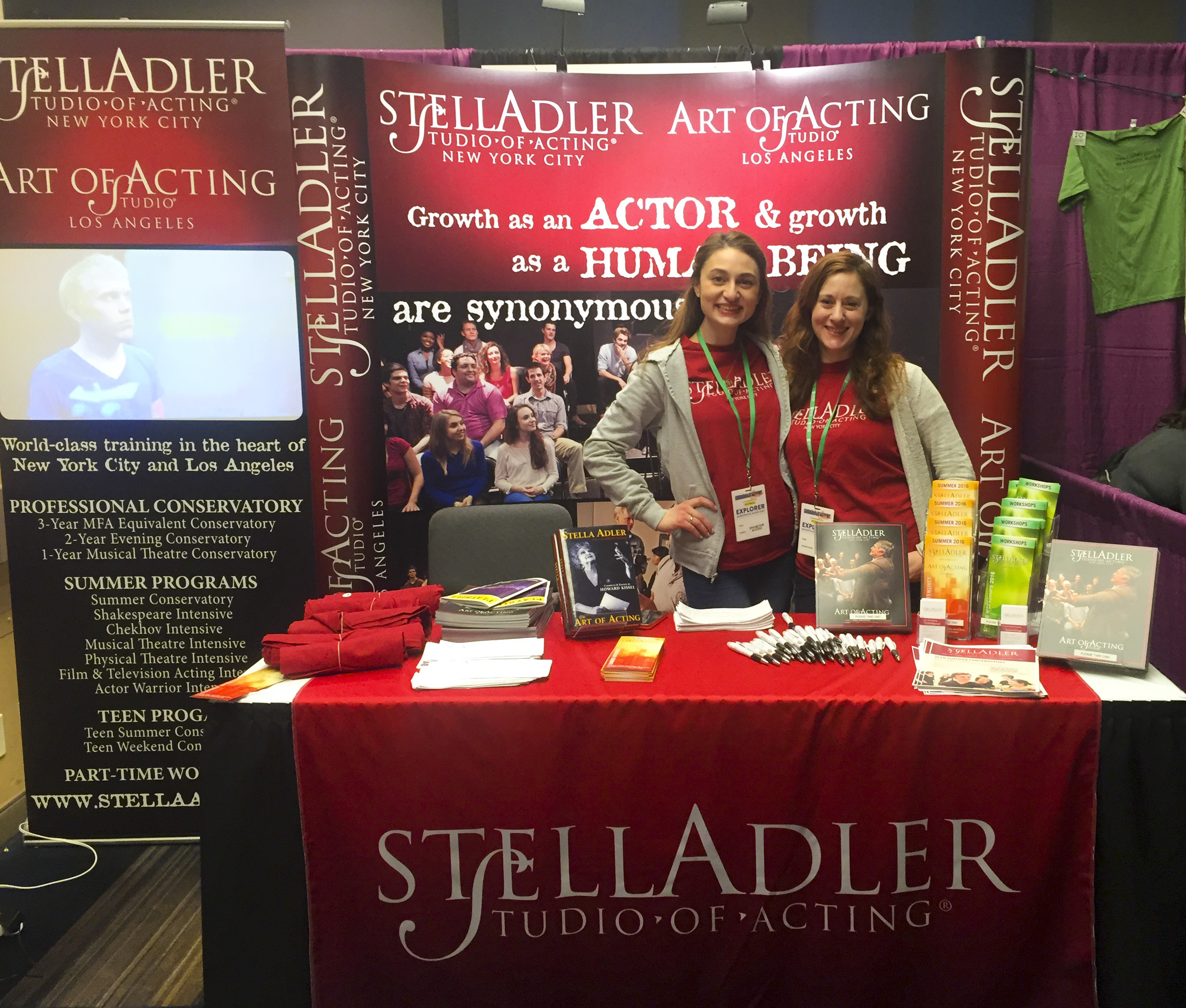 Stella Adler Trade Show Booth