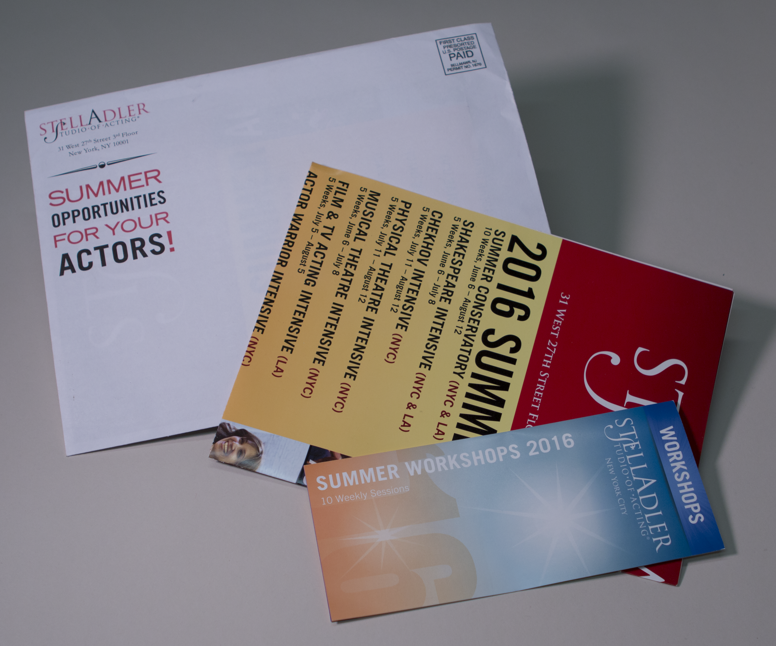 Stella Adler 2016 Direct Mailing