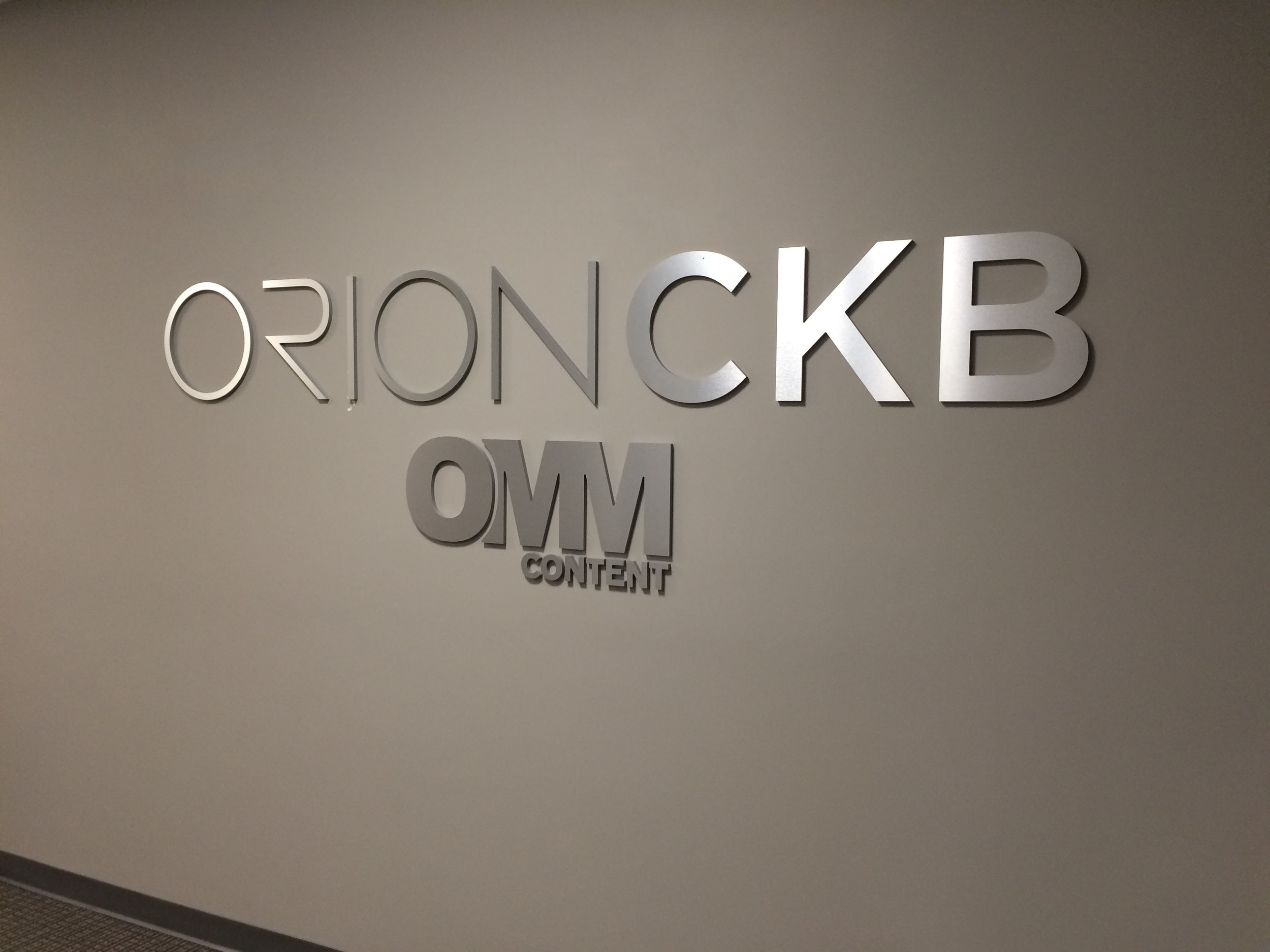 Brushed Aluminum Wall Lettering