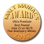 Best Ultra Premium Peated Whisky Malt Maniacs Awards 2017 Batch 1