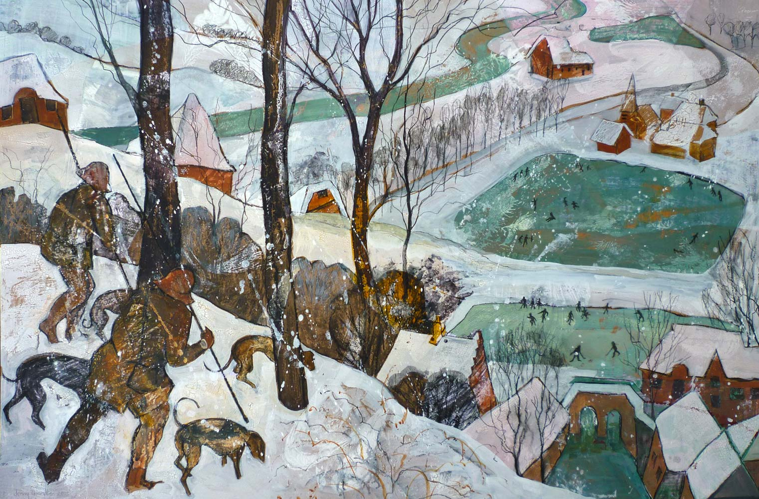"""After Bruegel's """"Hunters in the Snow"""""""