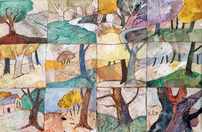Glimpses of trees