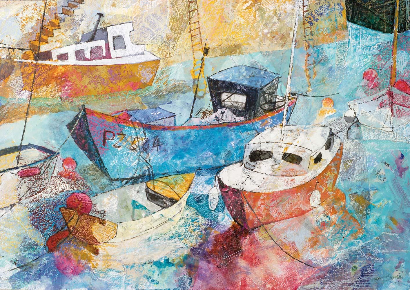 Blue fishing boat, Mousehole